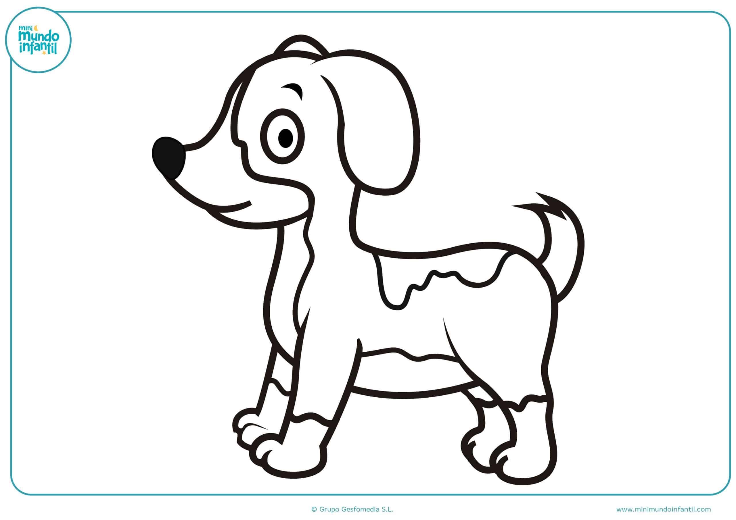 Dibujos Sin Colorear Dibujos De Piolín Para Colorear: Dibujos De Perros Para Colorear