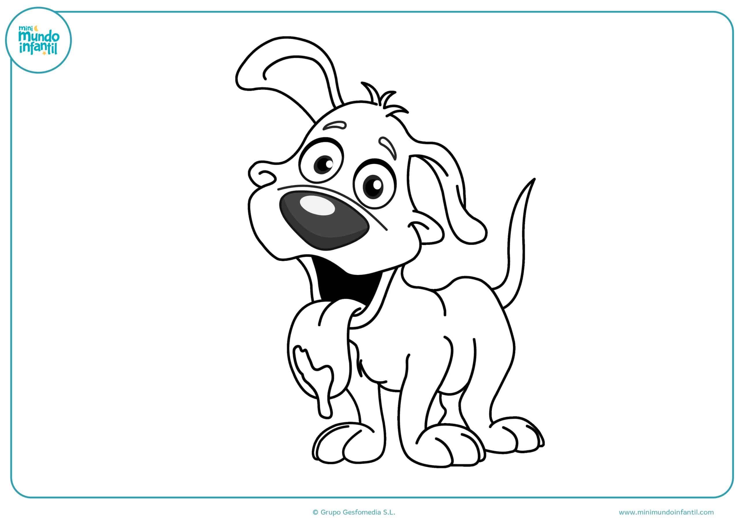 Dibujos perros colorear