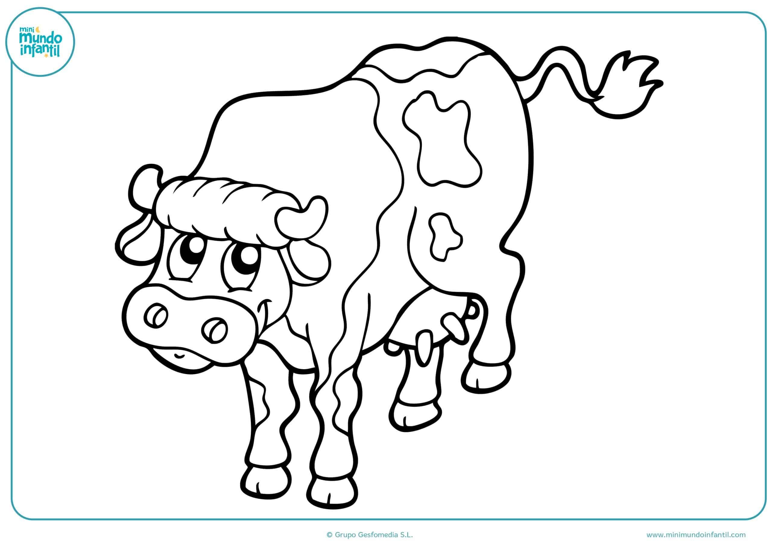 Descargar dibujos animales granja colorear