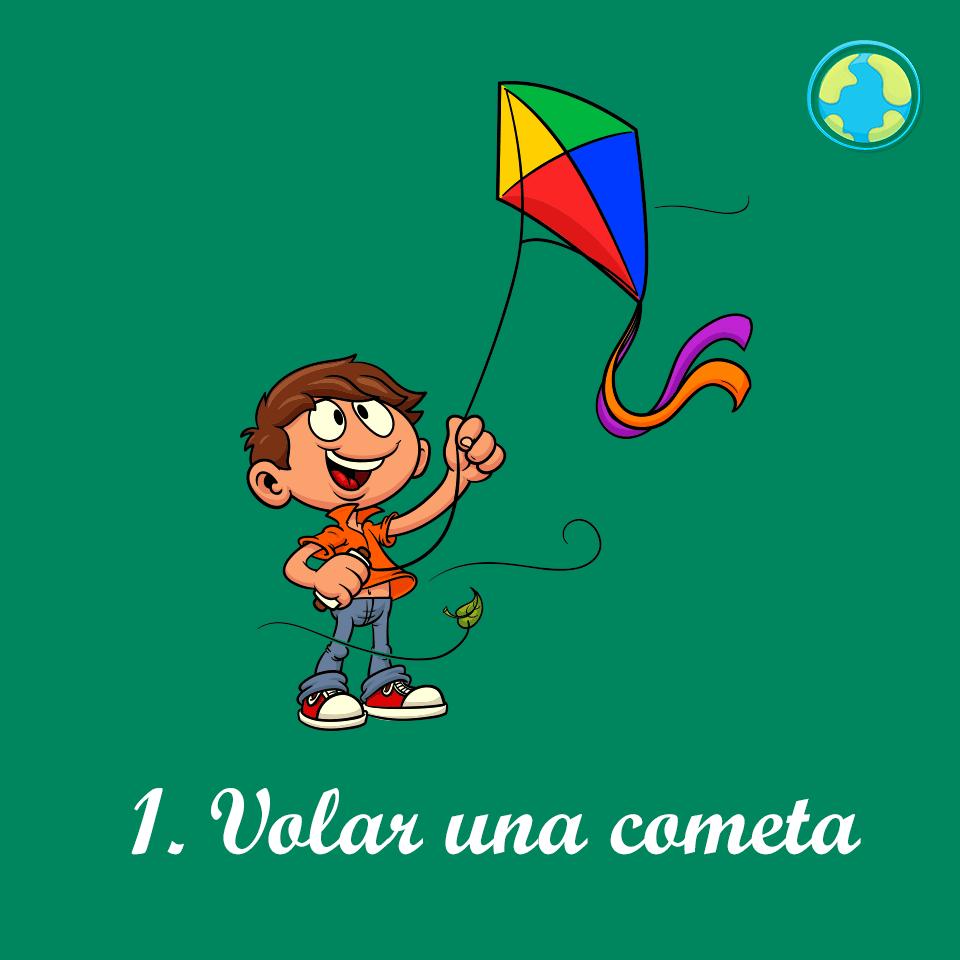 1-Volar cometa