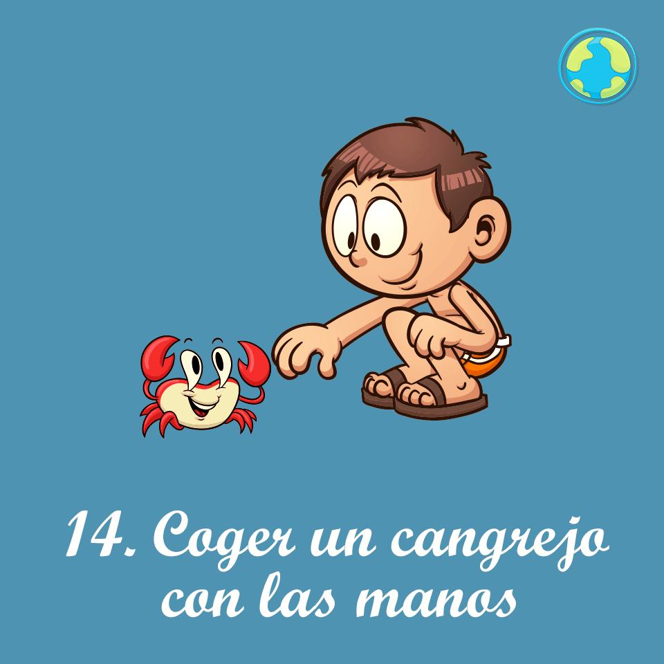 14-Coger cangrejo manos