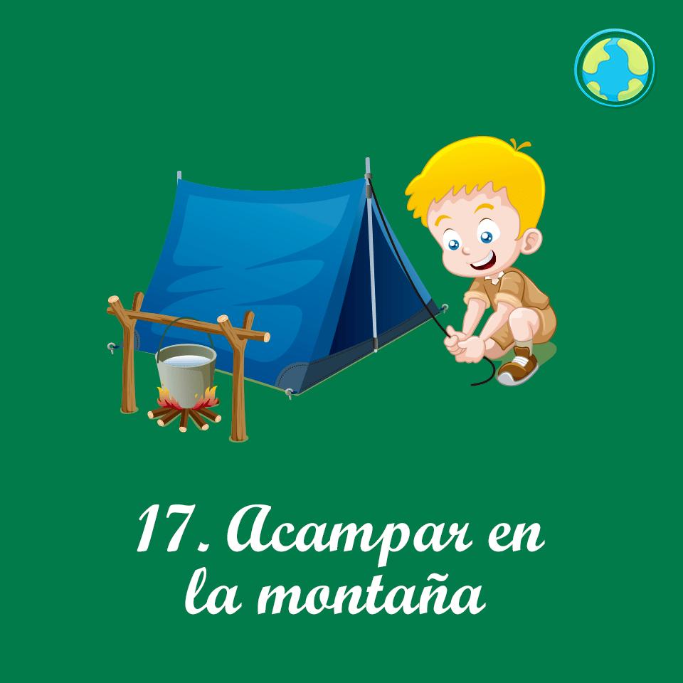 17-Acampar montaña