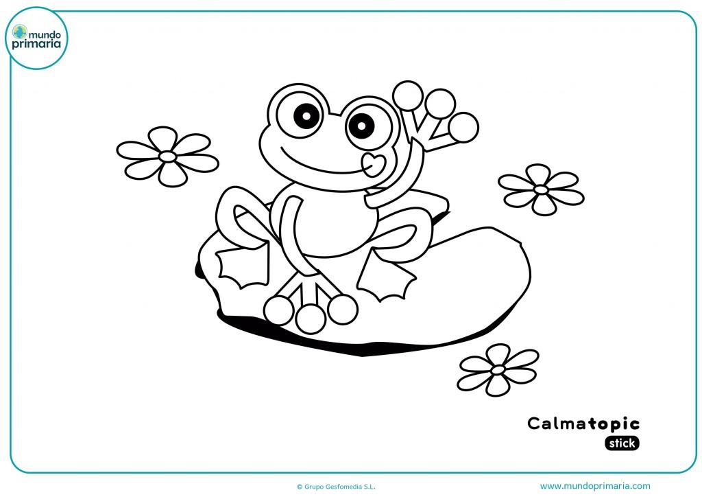 Ficha para colorear la rana de Calmatopic con tu colores favoritos