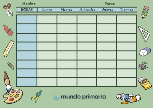 horario escolar de Primaria para descargar