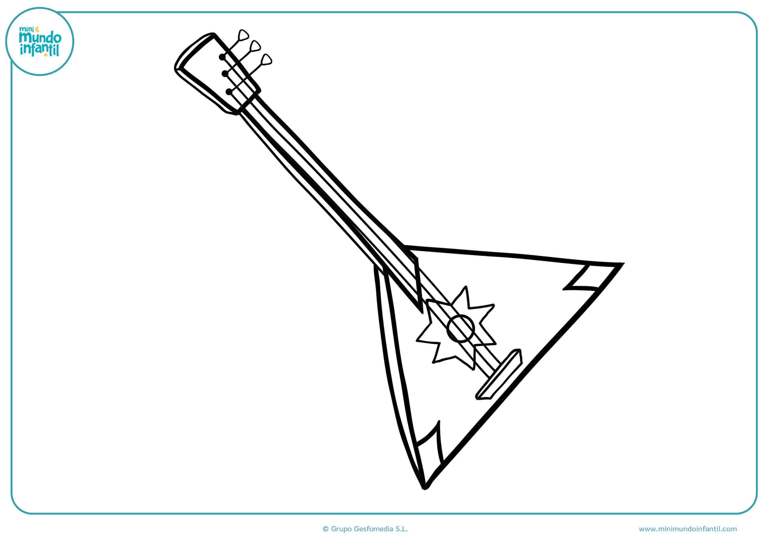 Dibujos colorear instrumentos musicales