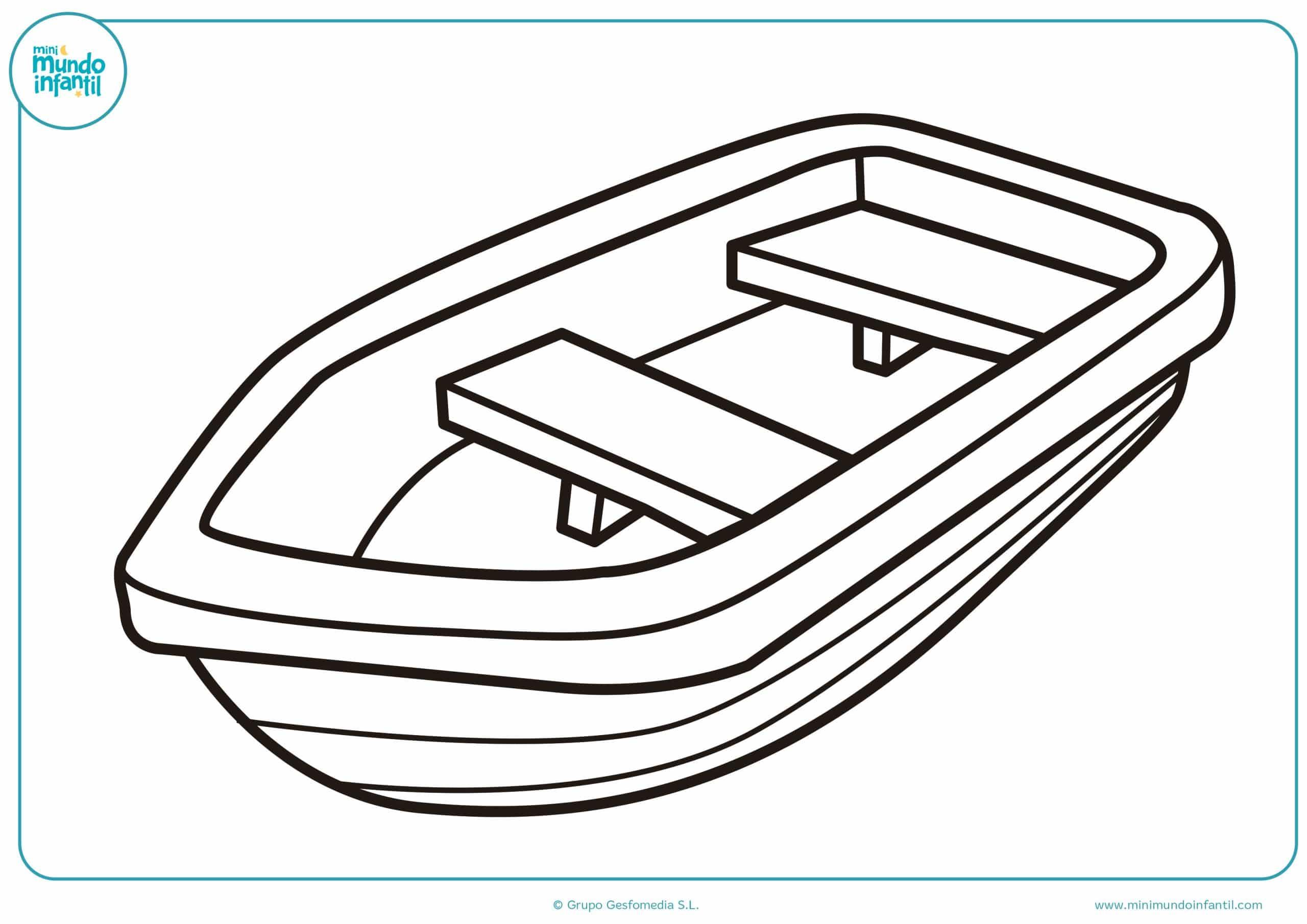 Dibujos de barcos para colorear - Mundo Primaria