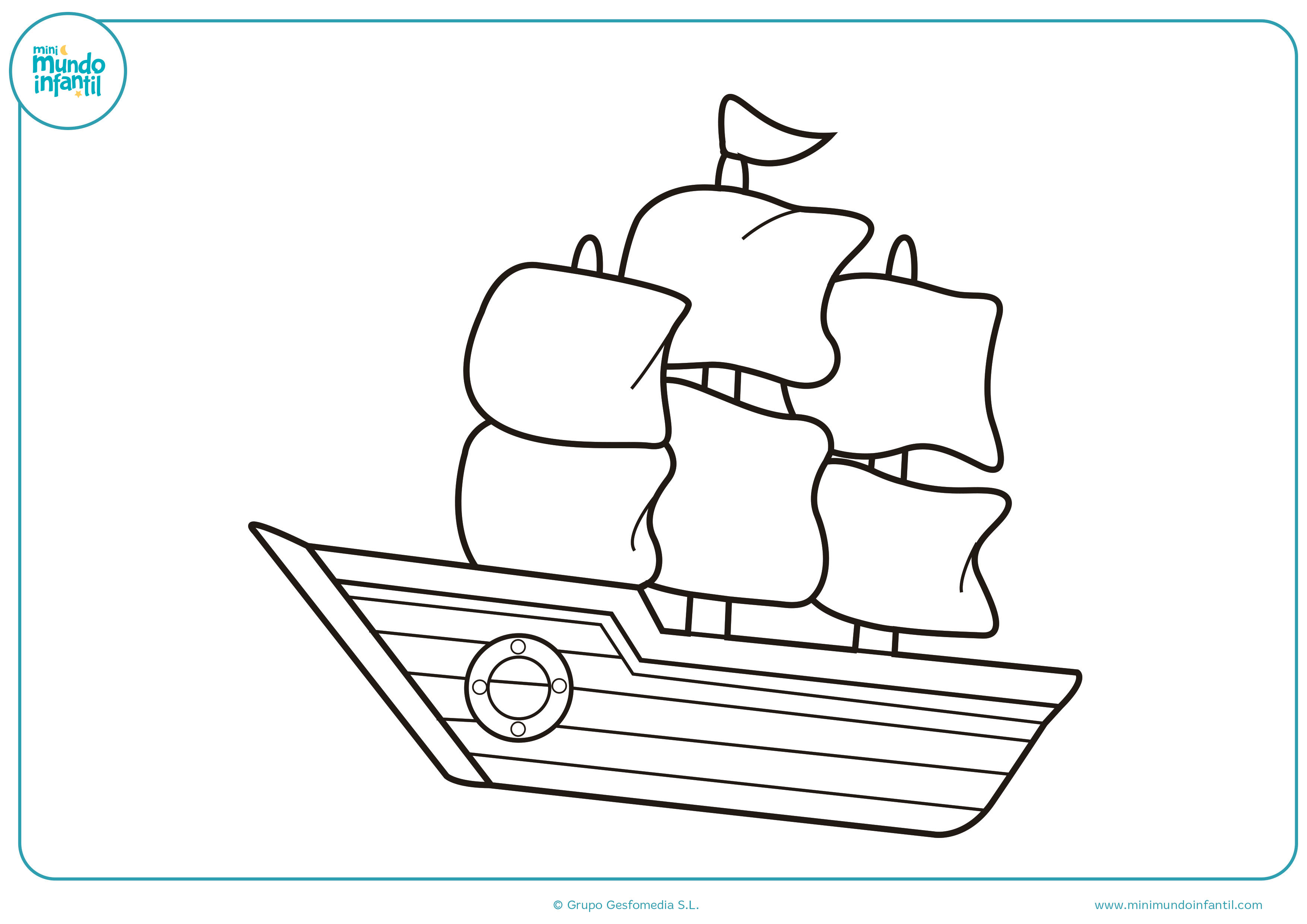 Dibujos colorear barcos