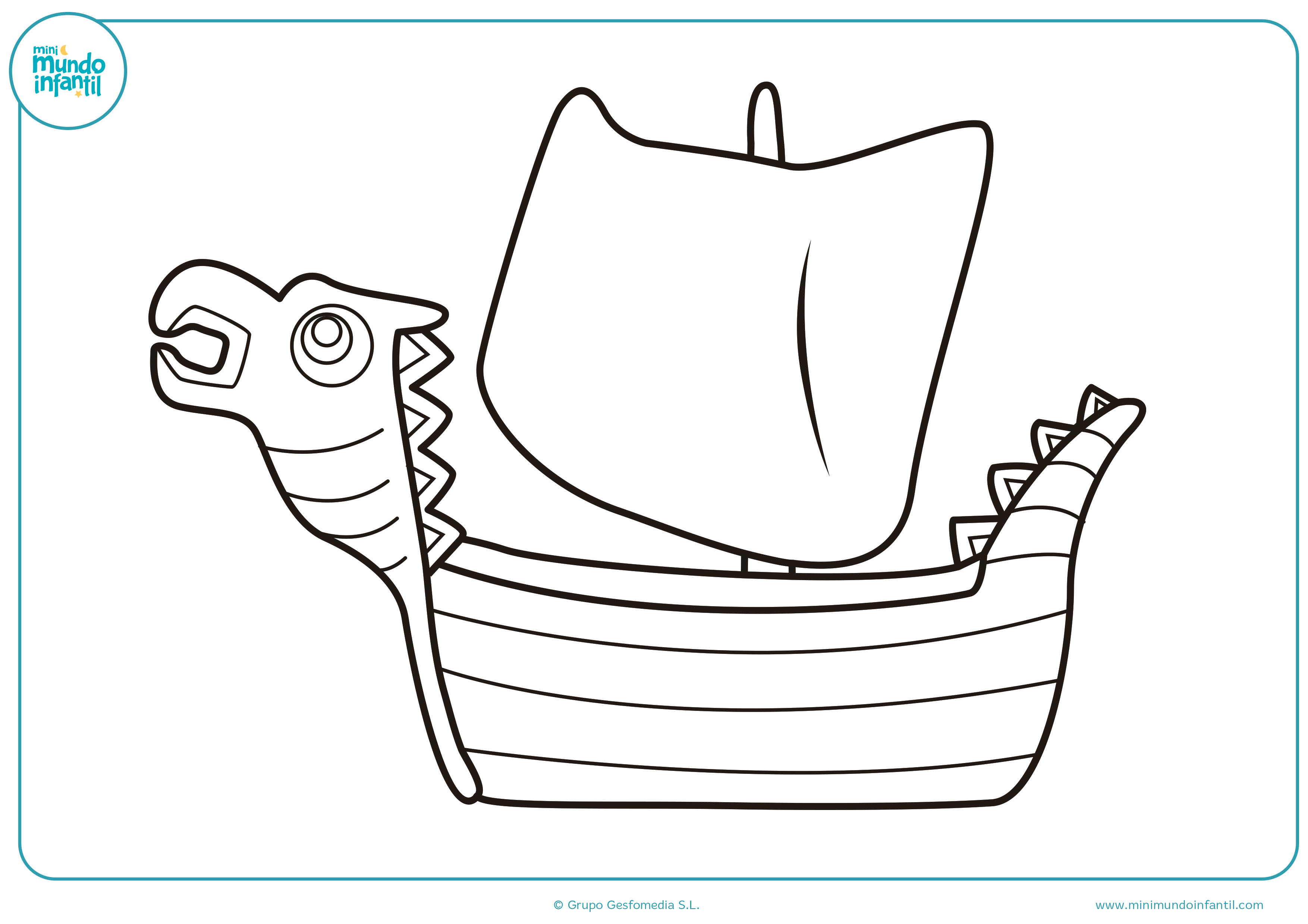 Dibujos barcos colorear