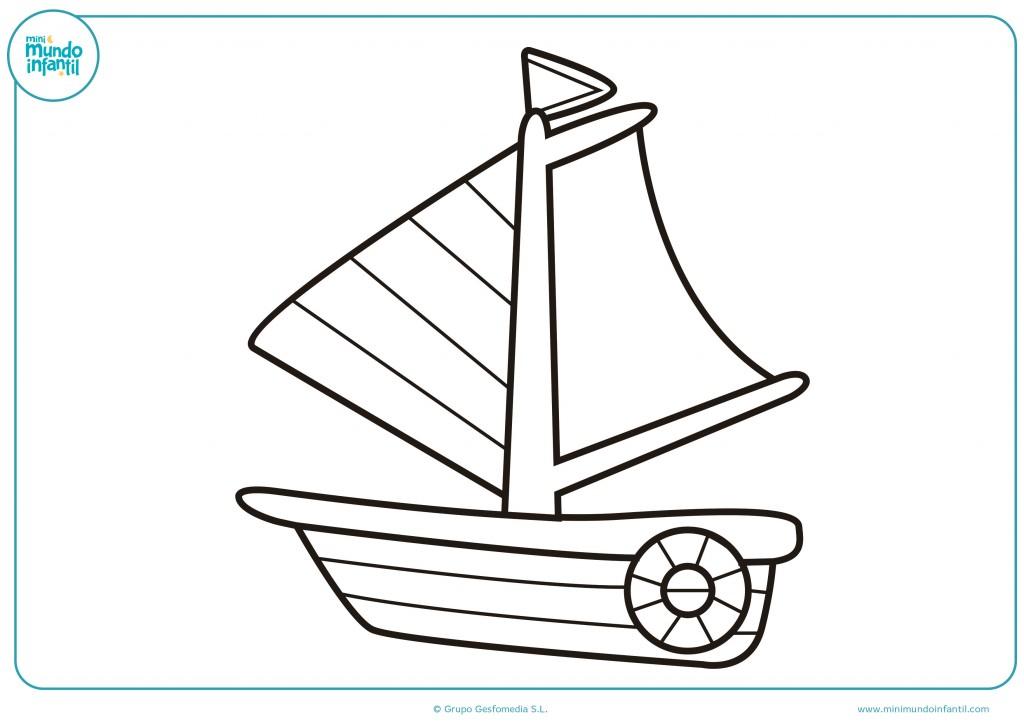 Descarga el dibujo del velero y coloréalo