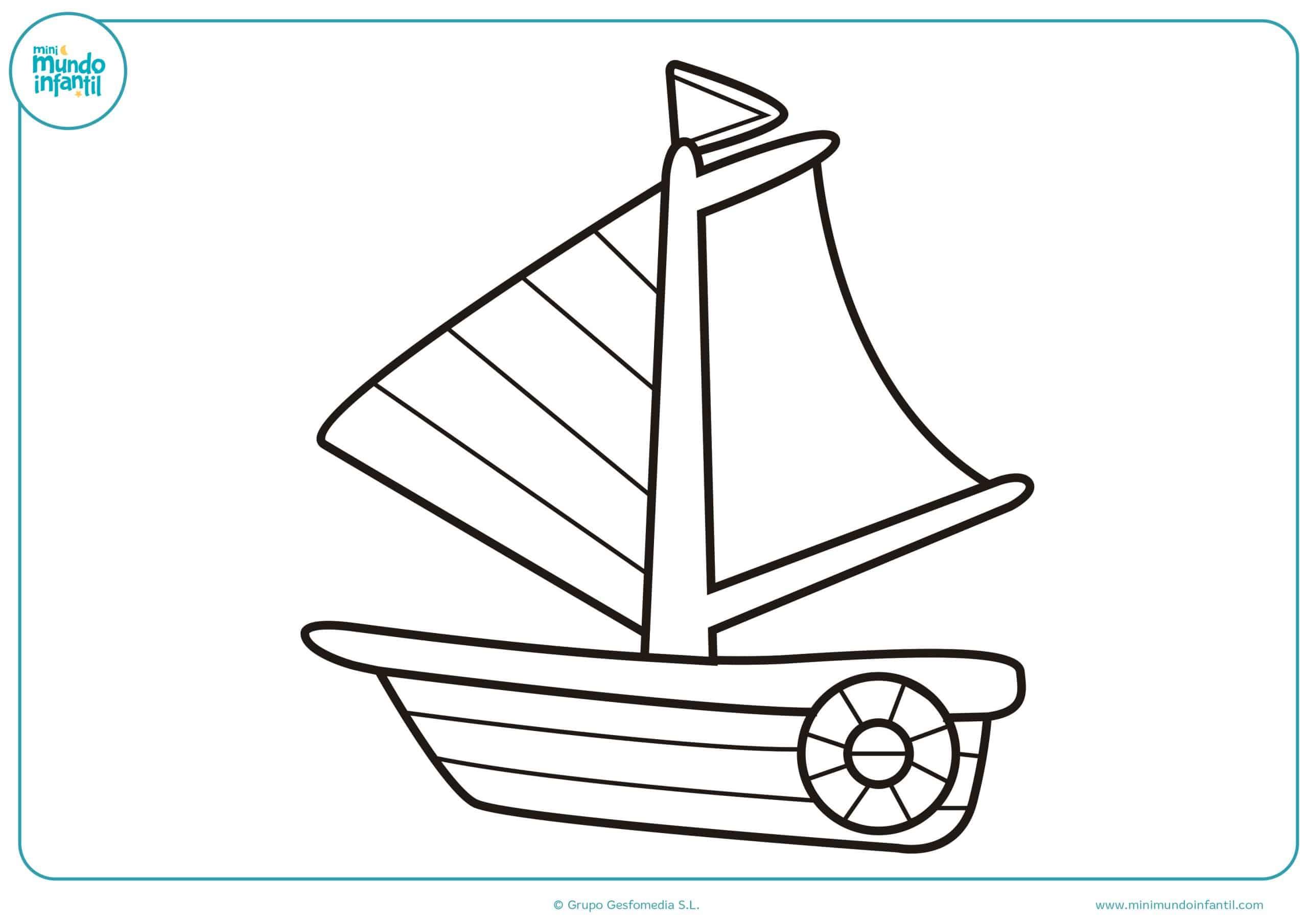 Barcos colorear primaria