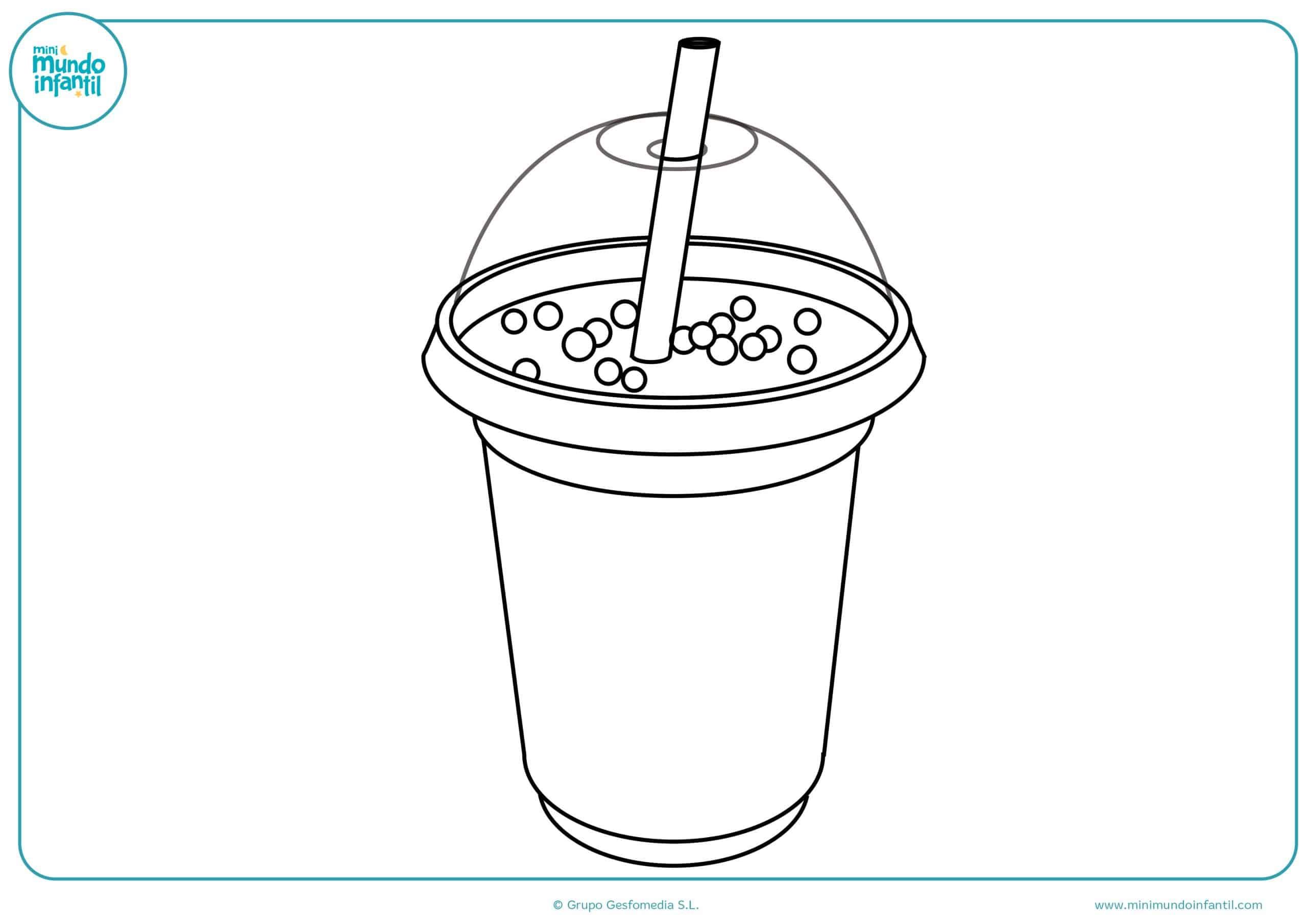 Dibujos para colorear bebidas