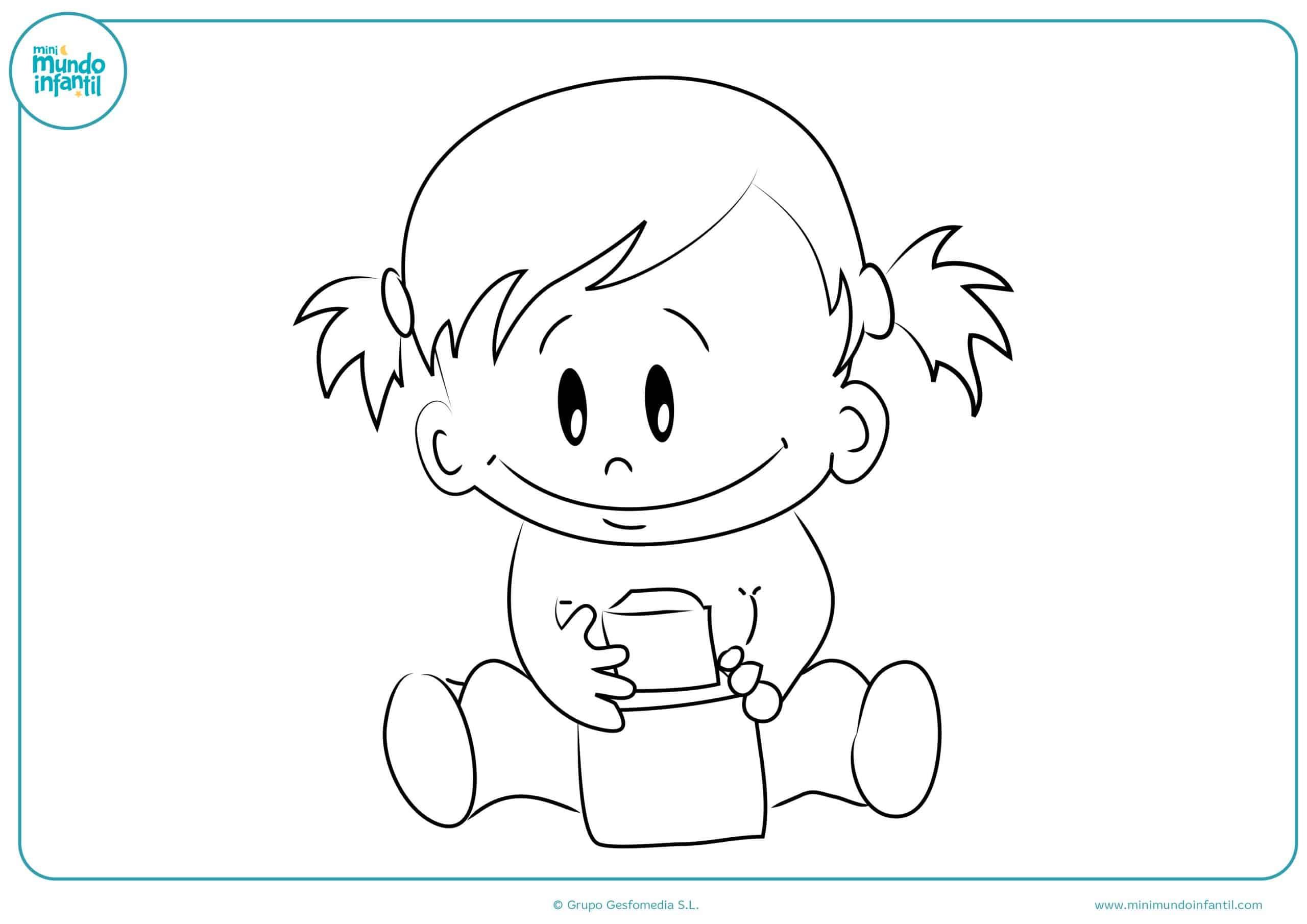 Colorear niños niñas on line