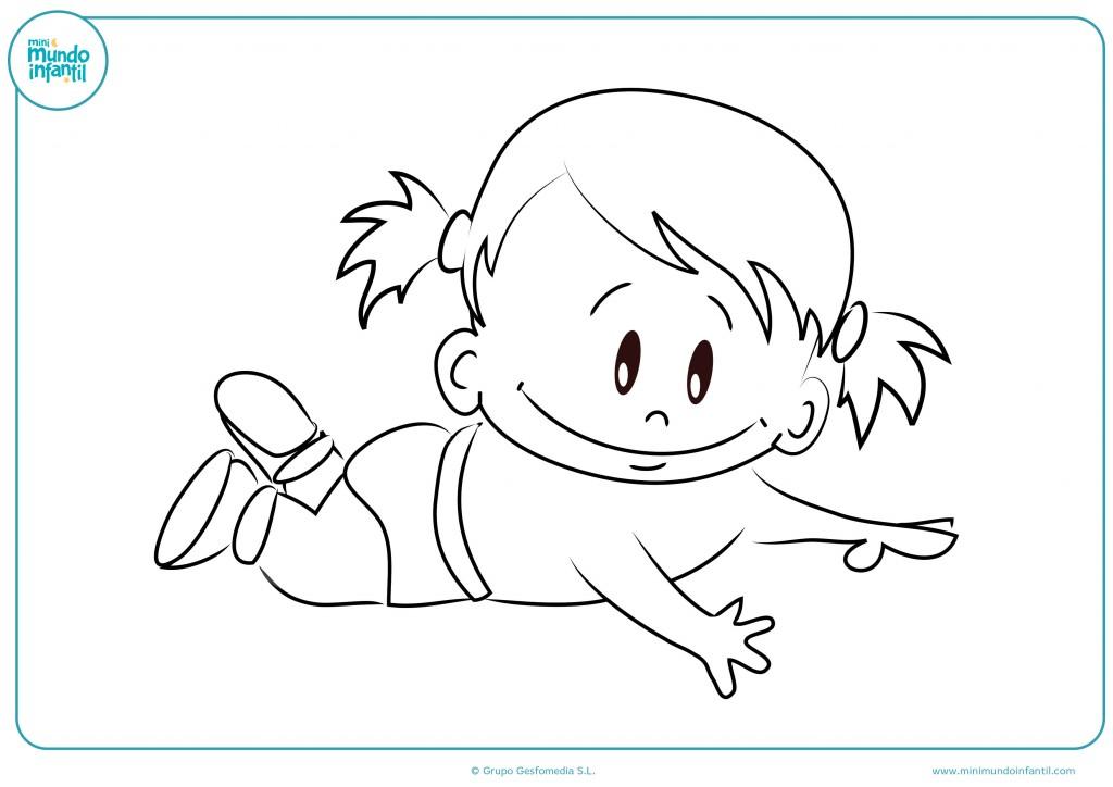 Pinta la bebé con coletas