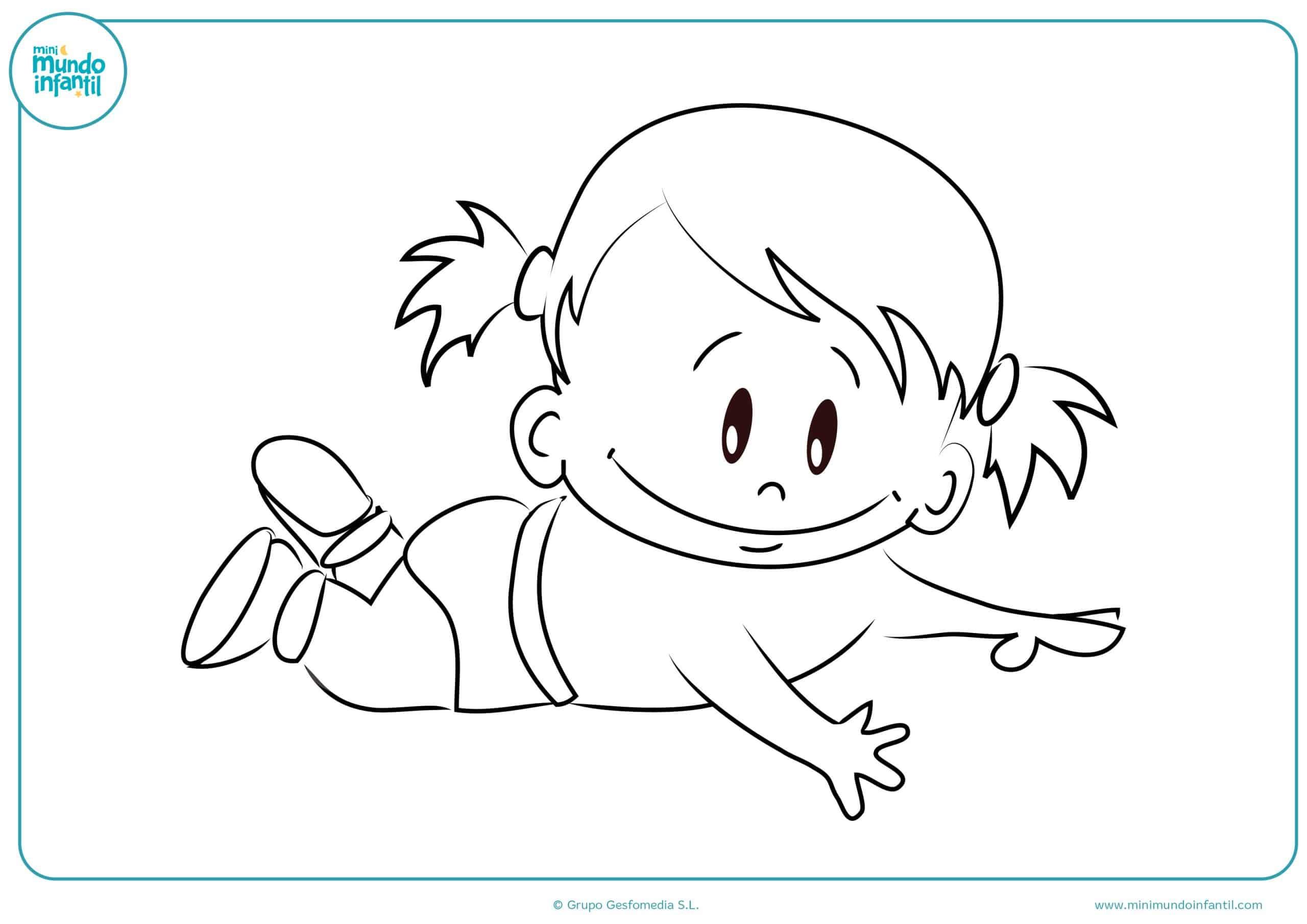 Dibujos colorear niños niñas primaria