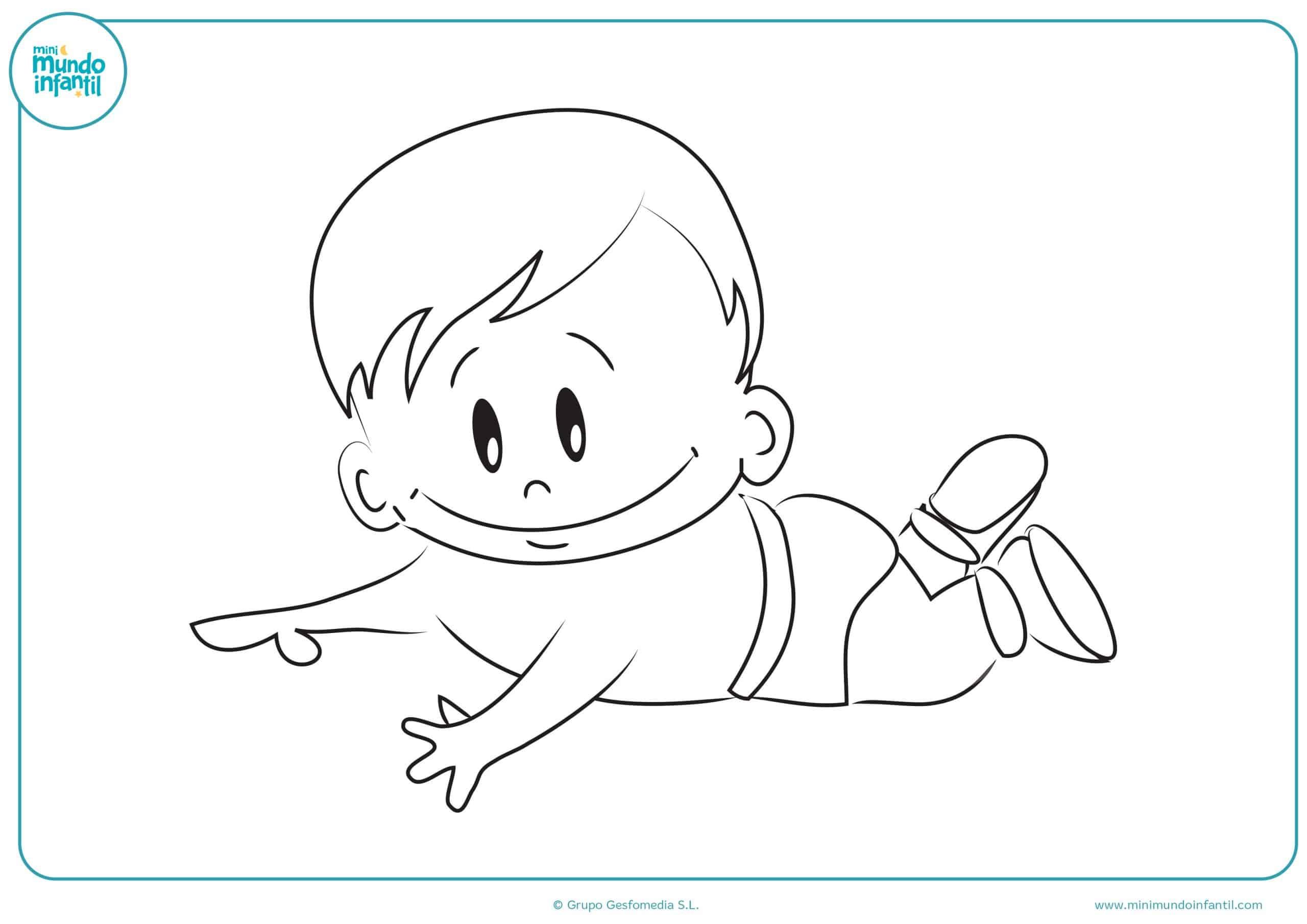 Dibujos niños niñas colorear para imprimir