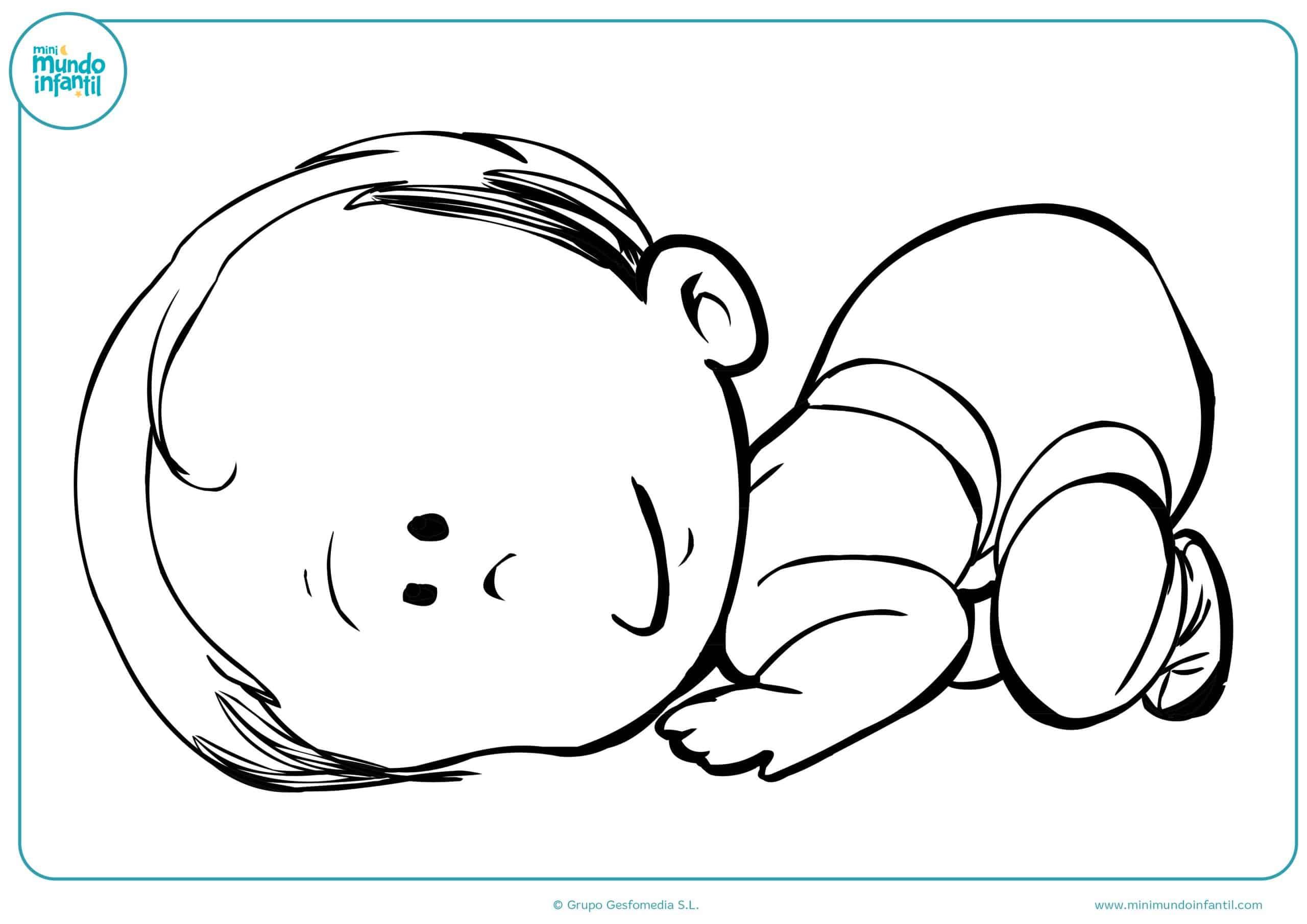 Dibujos de niños y niñas para colorear   Mundo Primaria
