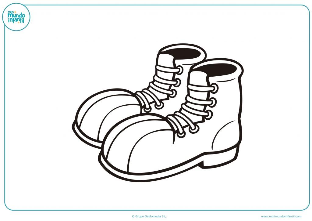 Pinta con rotuladores o ceras las botas