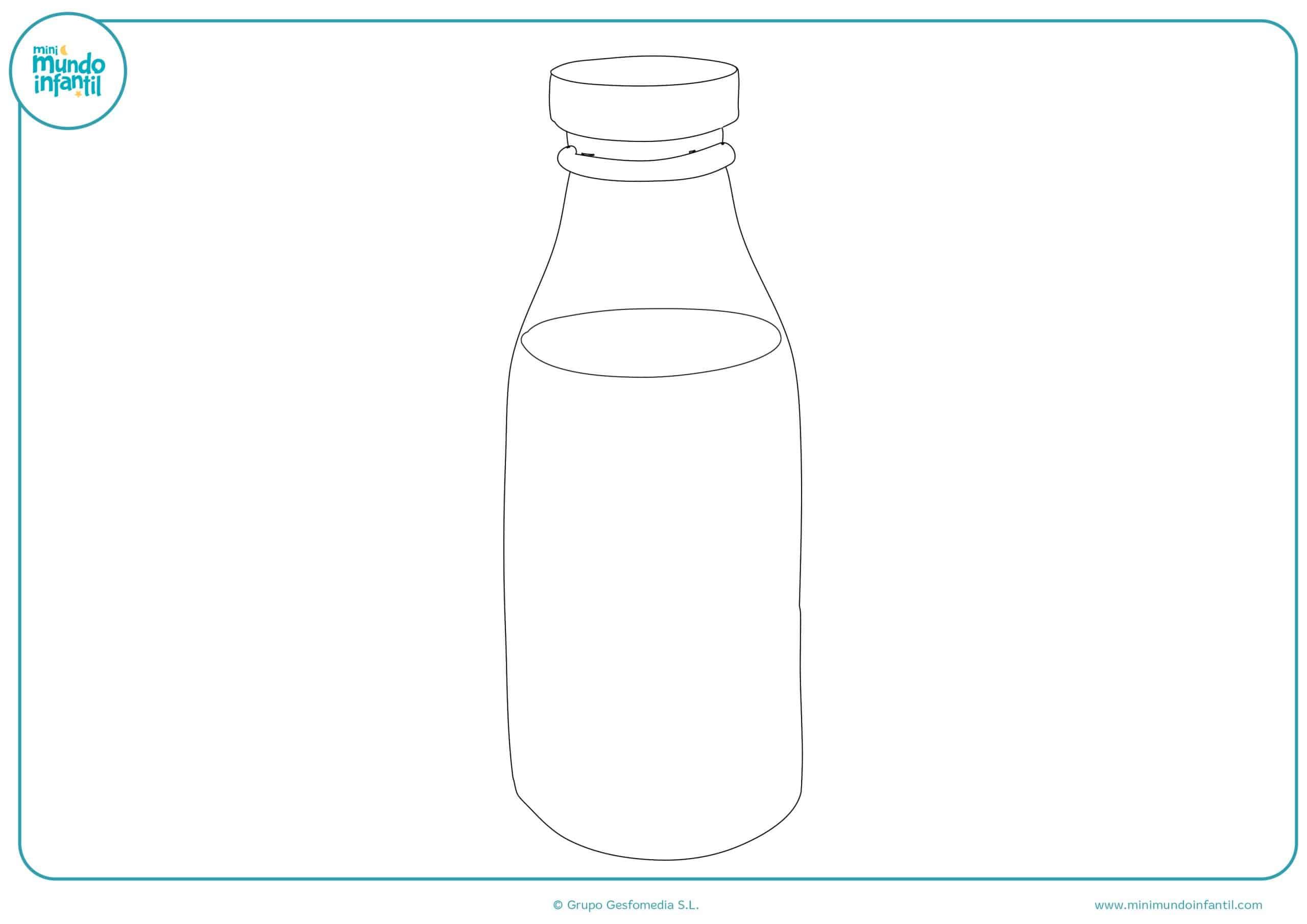 Dibujos colorear bebidas