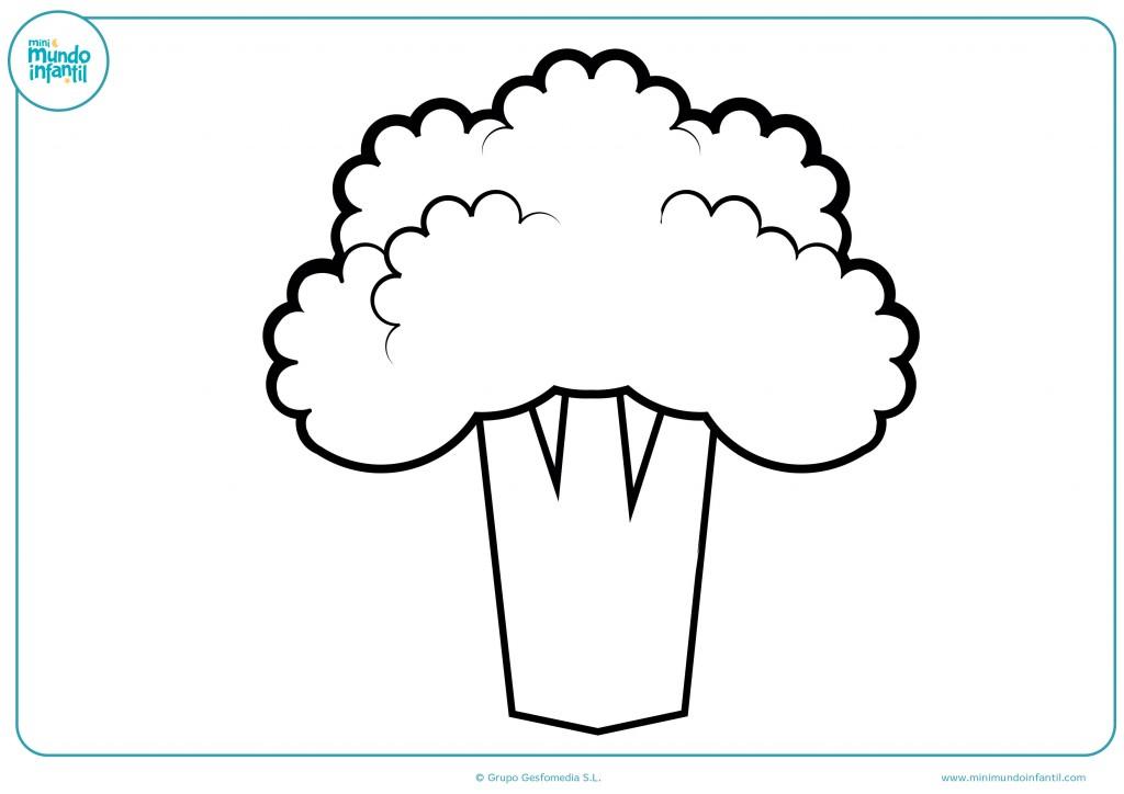 Rellena el dibujo del brócoli con colores