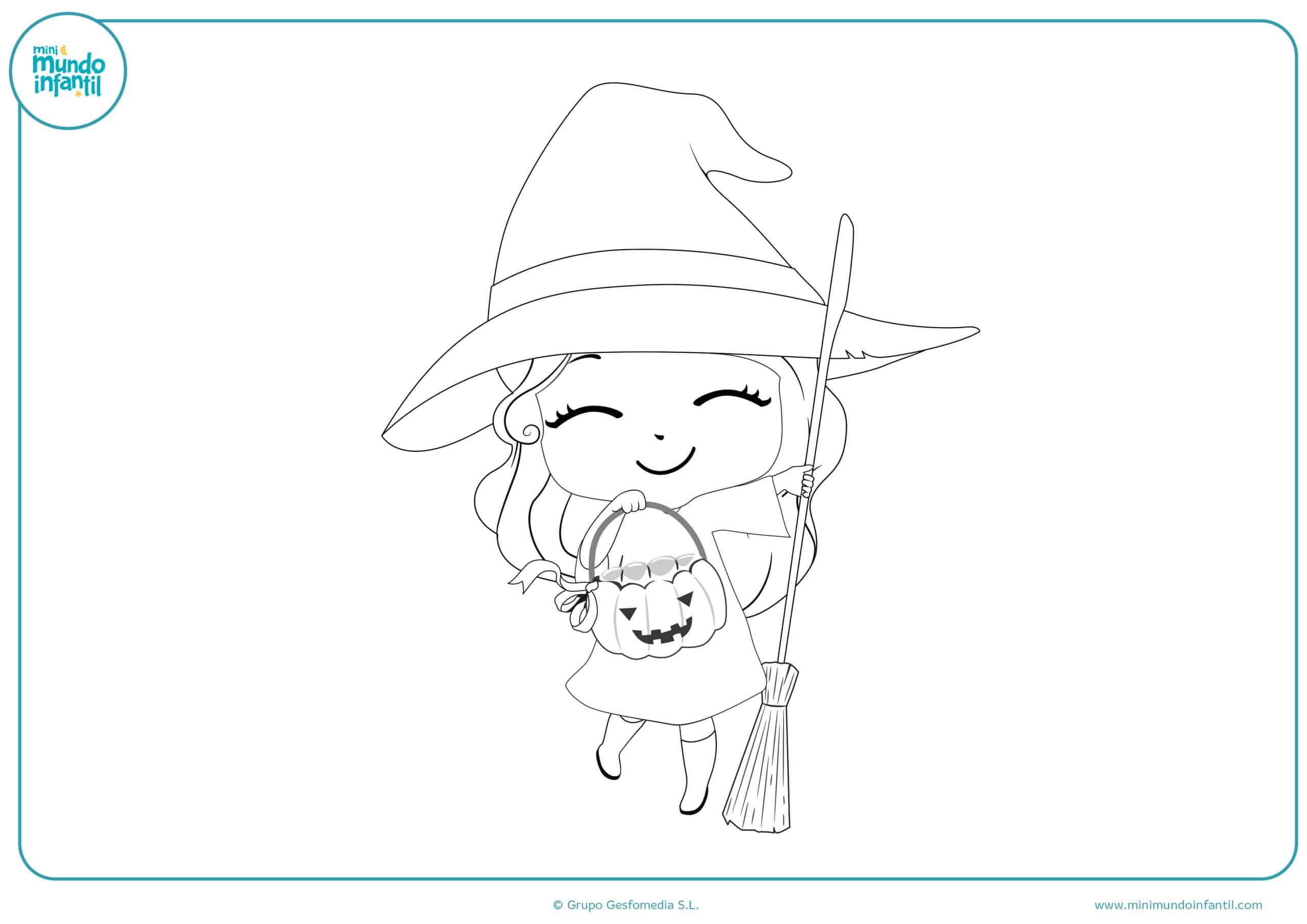 Dibujos para colorear brujas