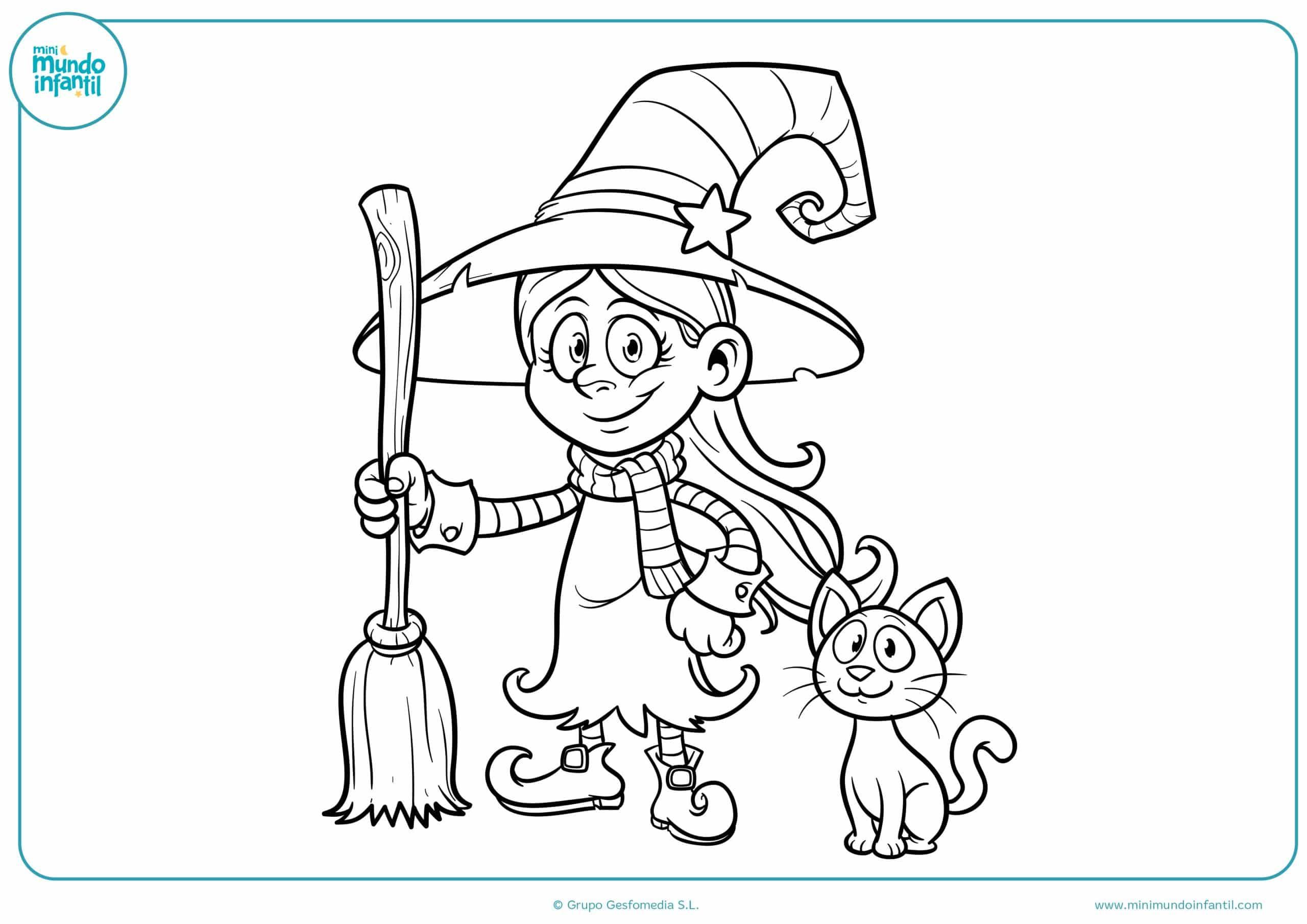 Dibujos brujas colorear