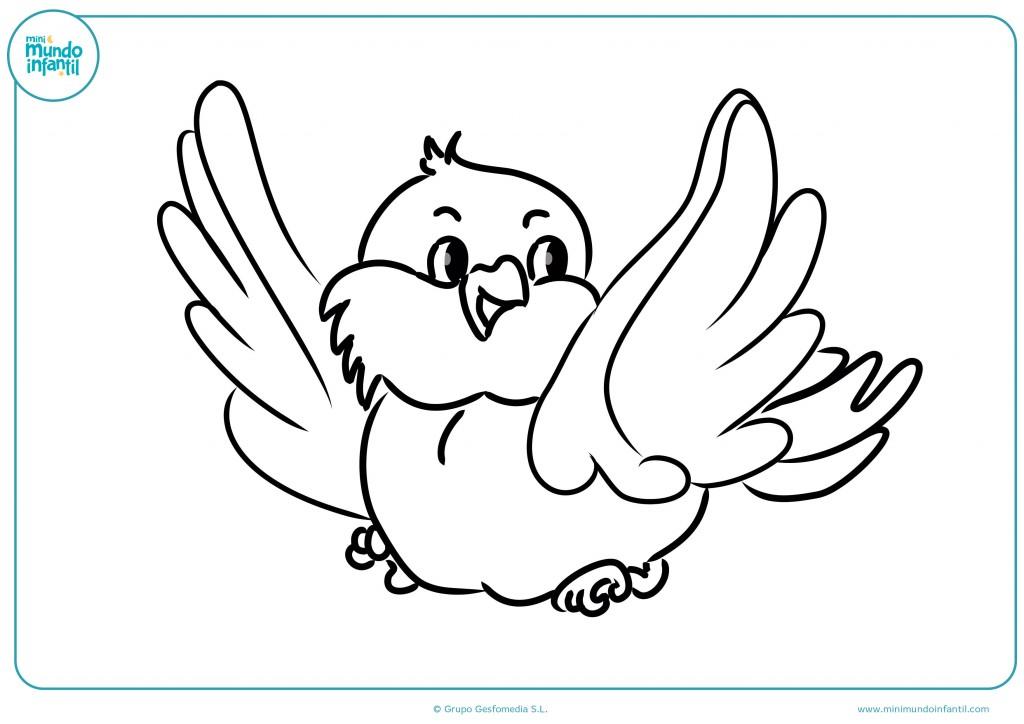 Rellena el dibujo del búho volando con ceras de colores