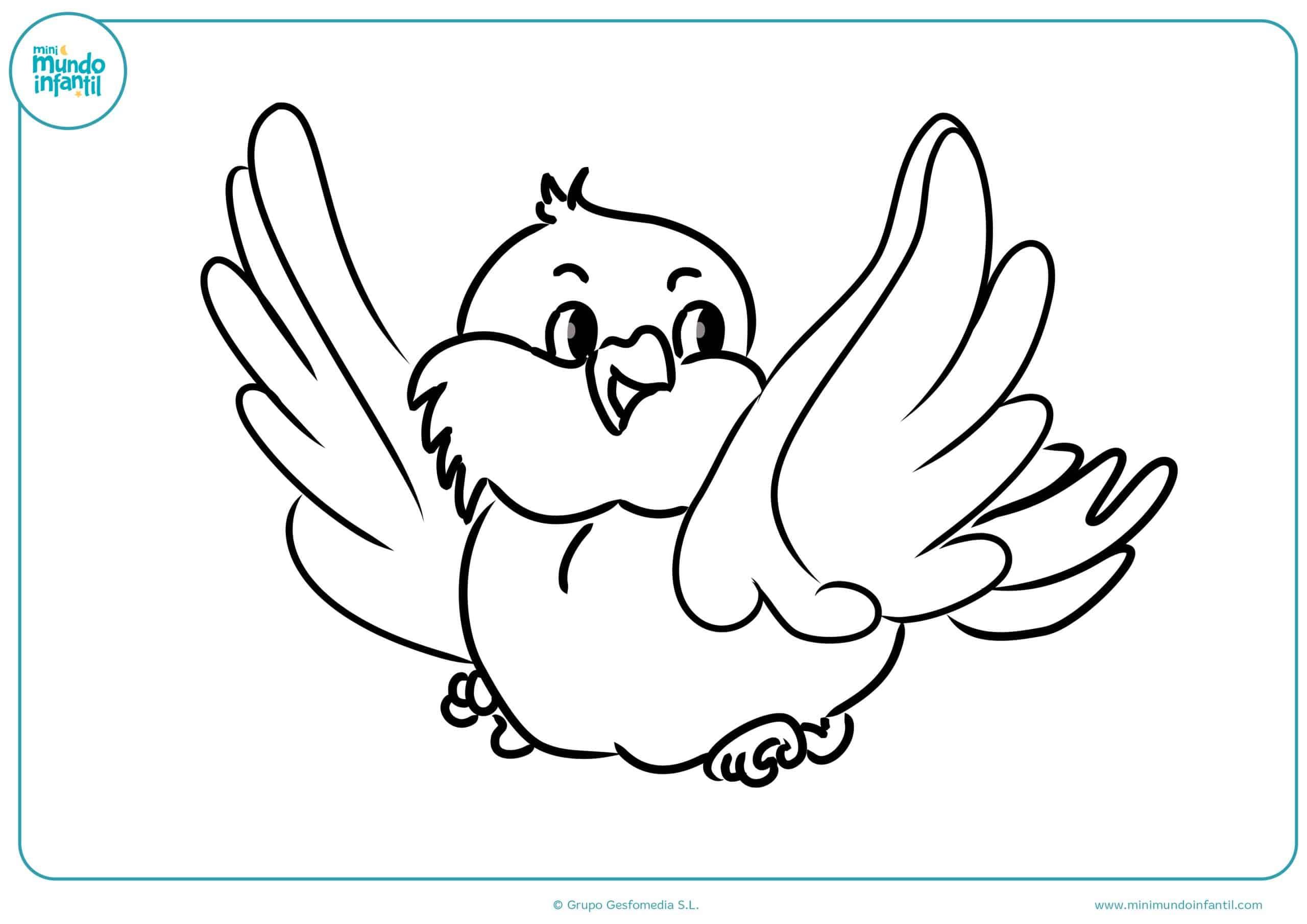 Colorear dibujos animales aves gratis
