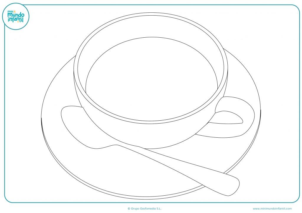 Imprime el dibujo de la taza y dale color