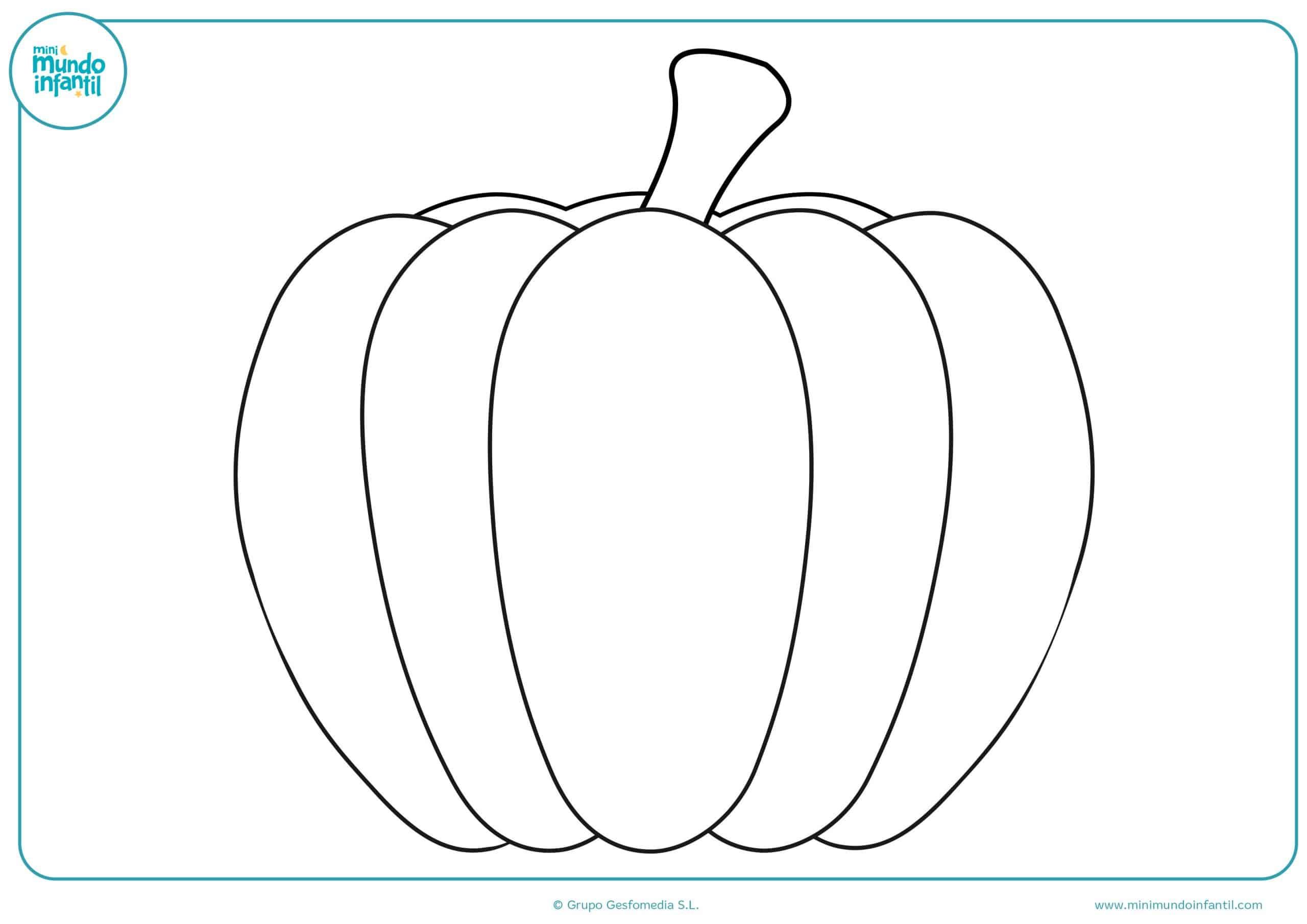 Dibujos colorear verduras para niños