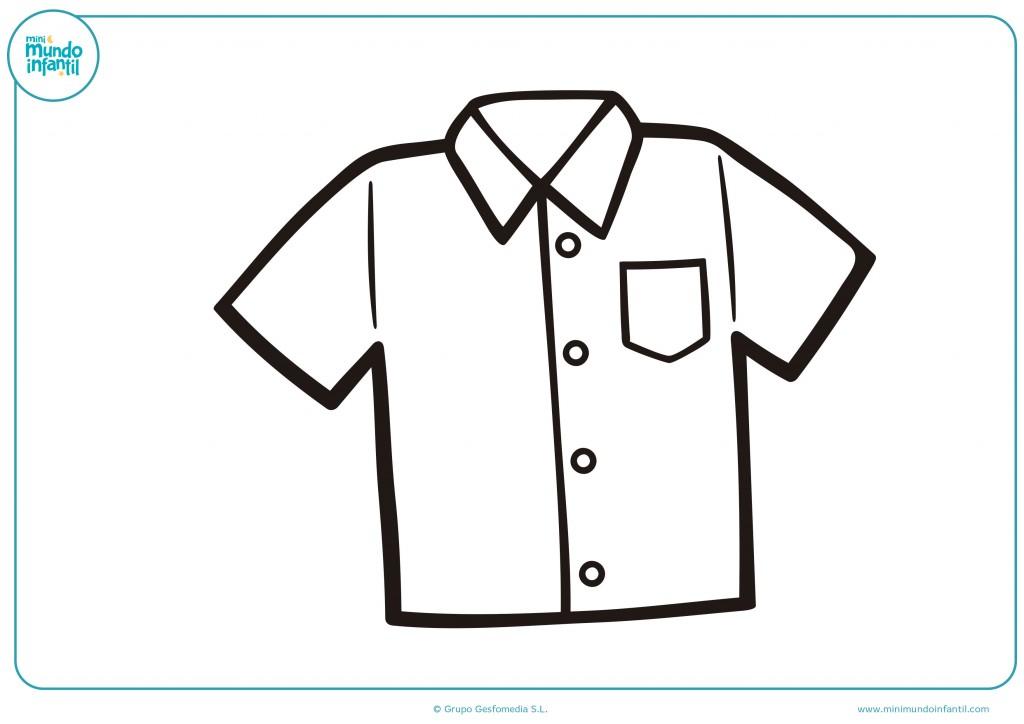 Colorea la camisa de botones