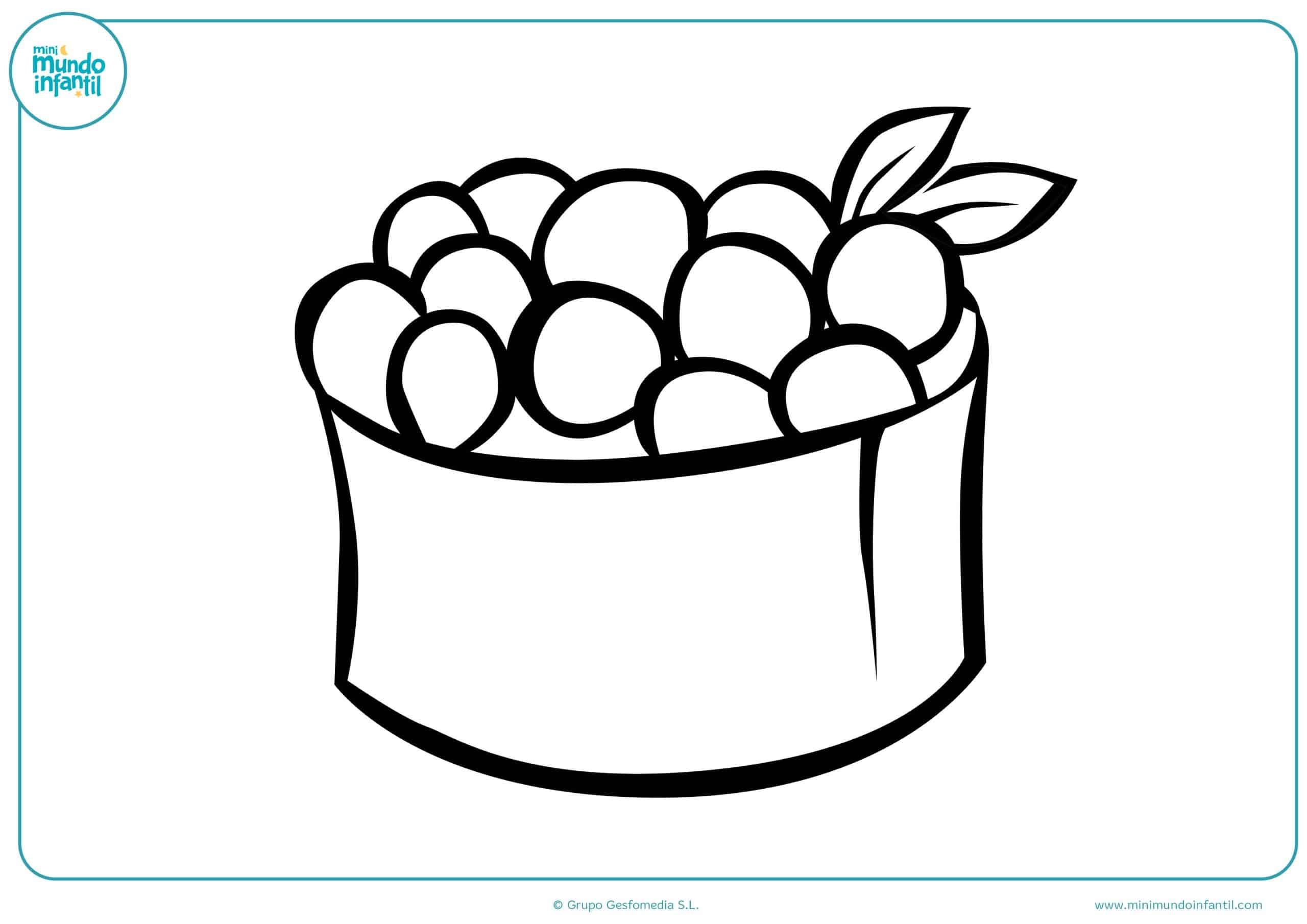 Dibujos para colorear frutas