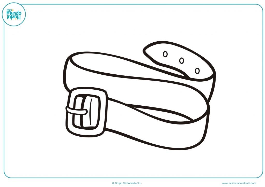 Decora como quieras el dibujo de un cinturón