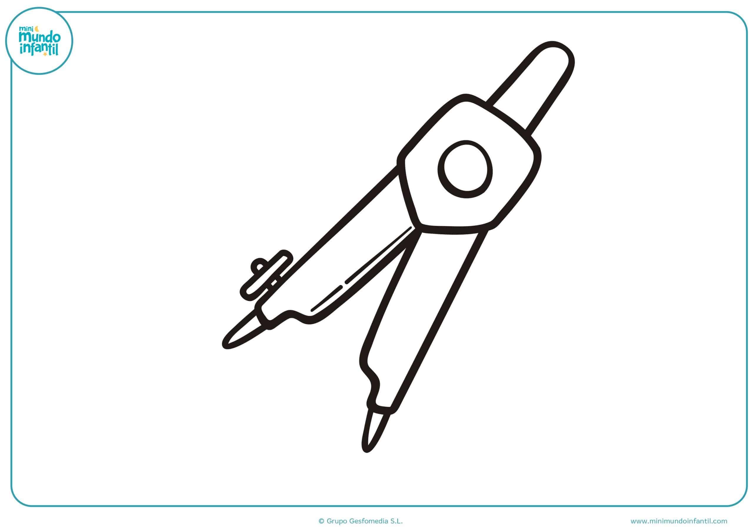 Dibujos Sobre La Escuela Para Colorear E Imprimir: Dibujos De Material Escolar Para Colorear