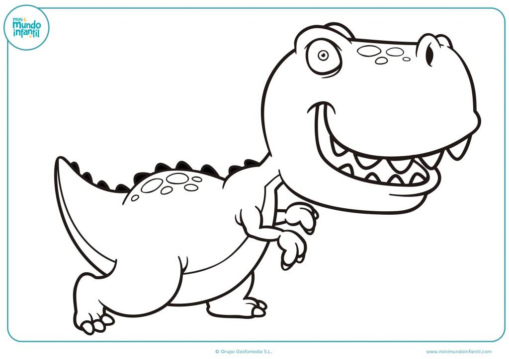 Descarga el dibujo del tiranosaurio rex y píntalo