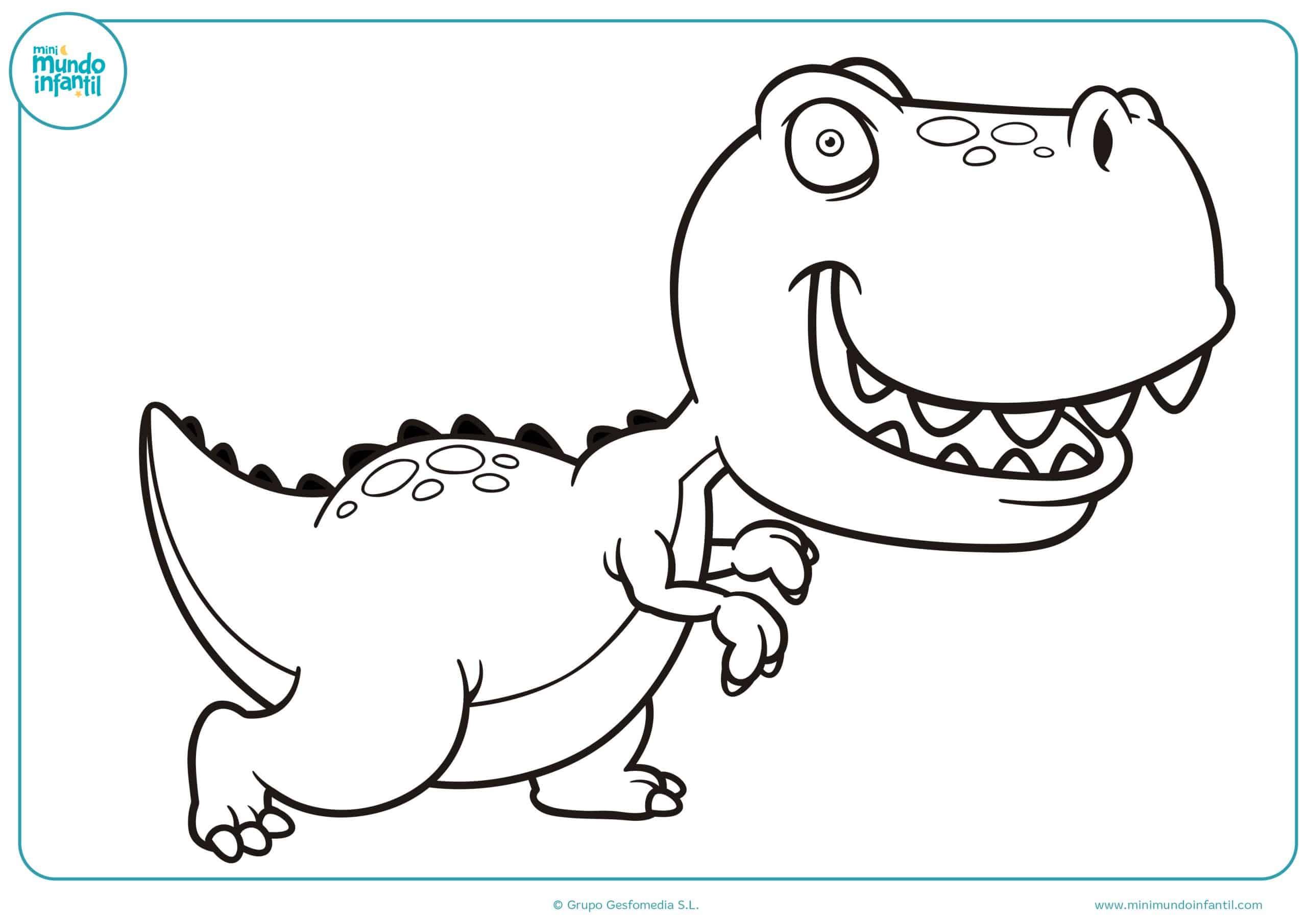 Dibujos De Dinosaurios Para Colorear Imprimir Y Pintar Por ello, imprime este dibujo y luego. dibujos de dinosaurios para colorear