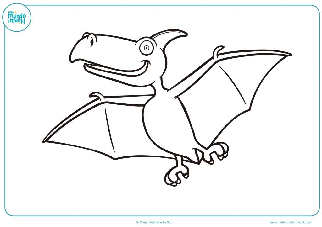 Pinta el dibujo del dinosaurio que vuela