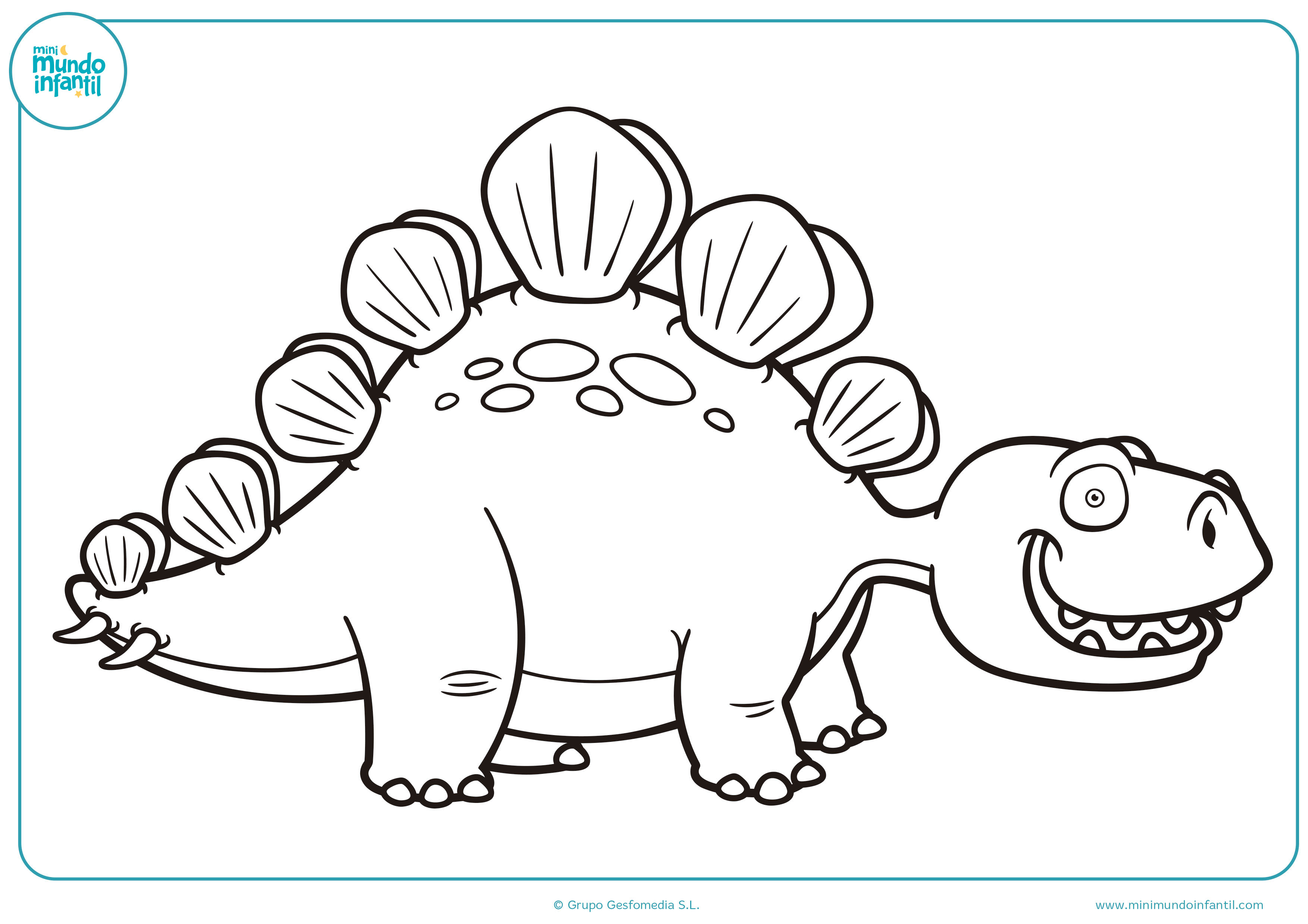 Dibujos dinosaurios colorear