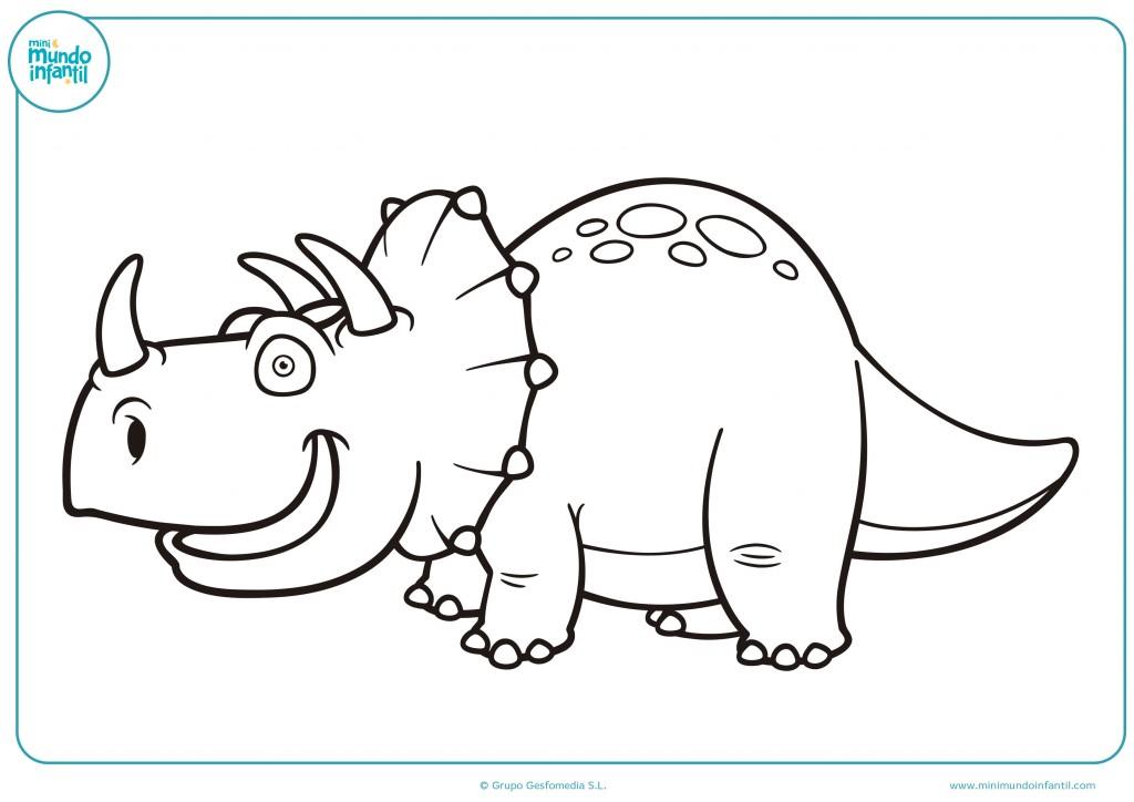 Coloreable de un triceratops