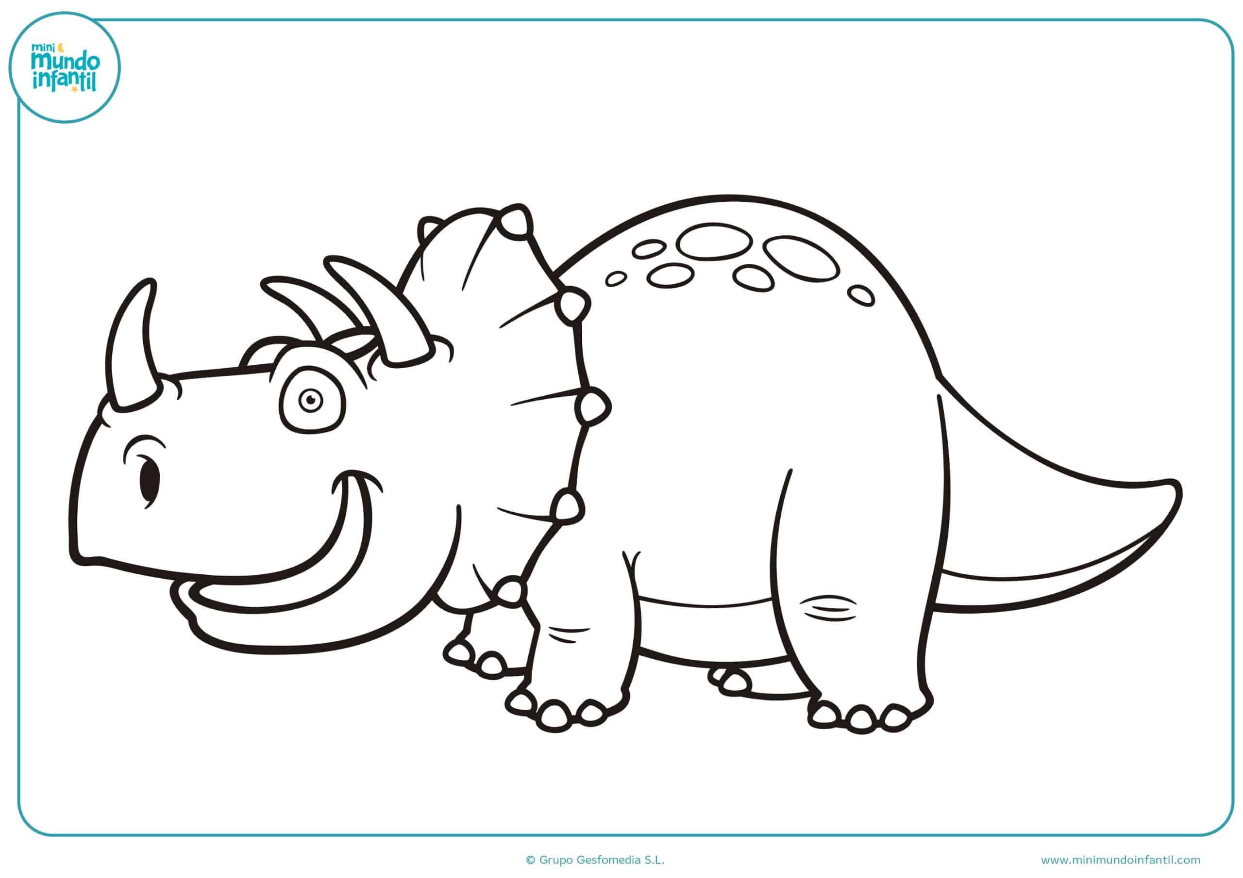 Colorear dibujos dinosauros