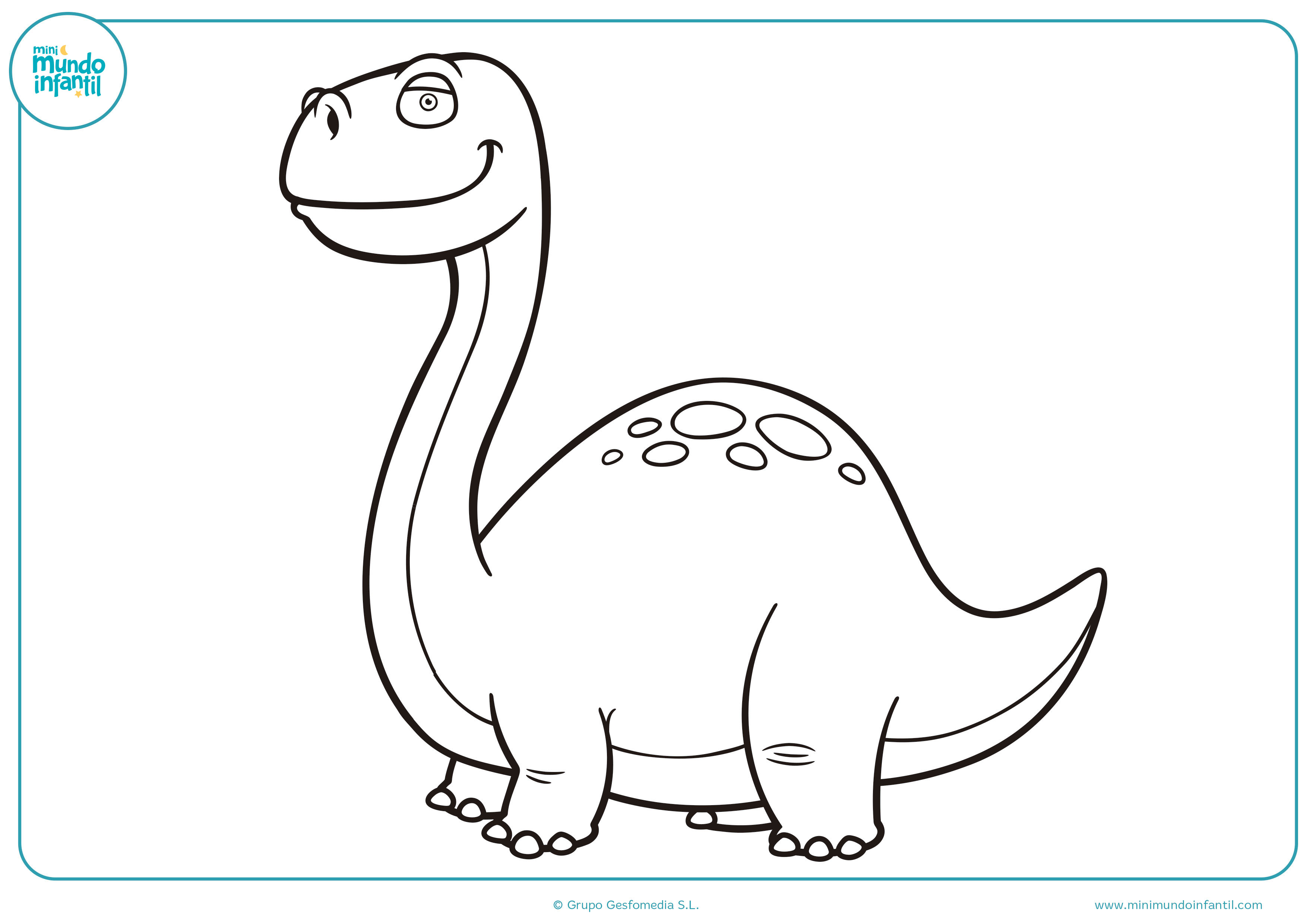 Dibujos colorear dinosaurios niños