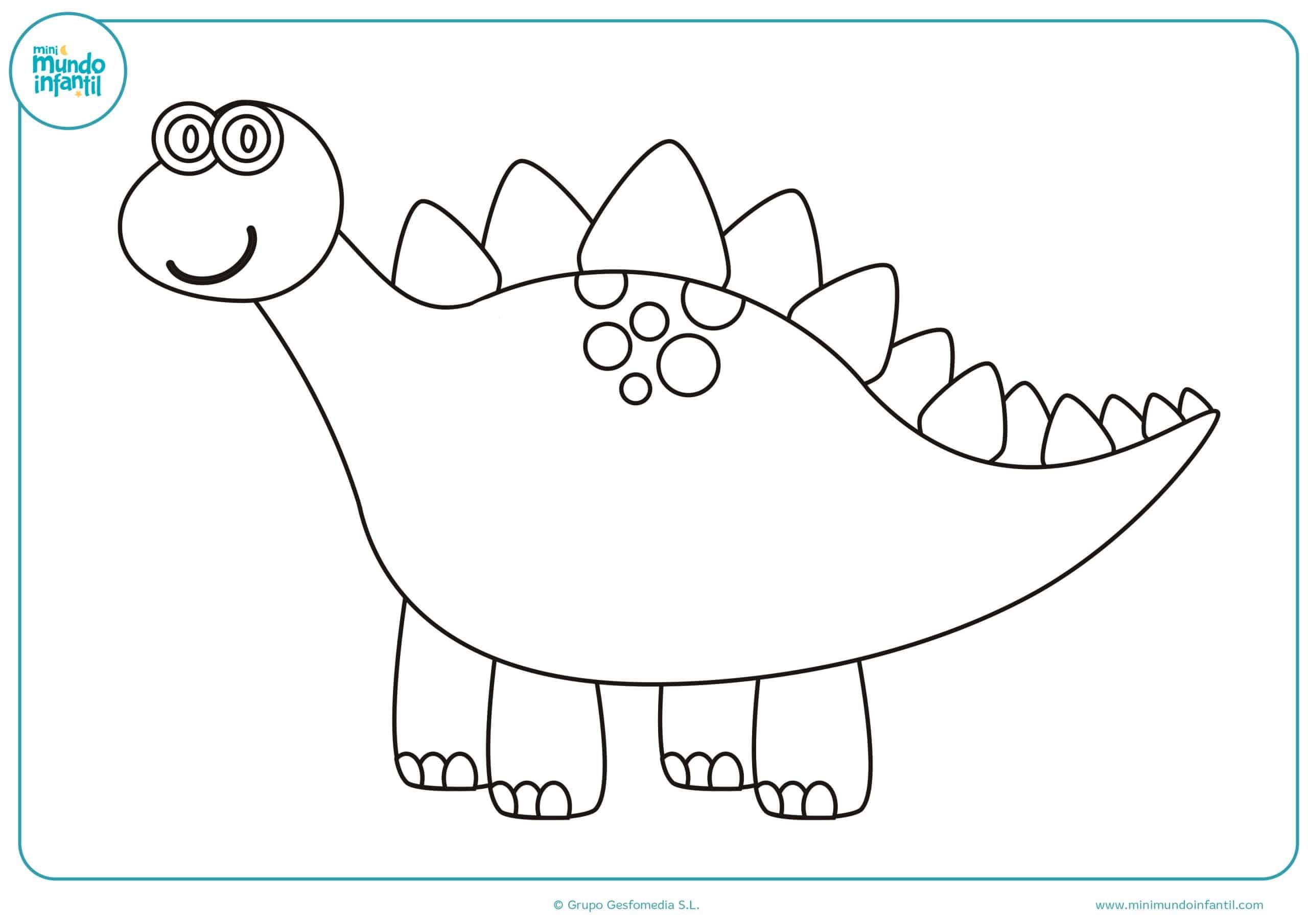 Dinosaurios dibujos colorear e imprimir