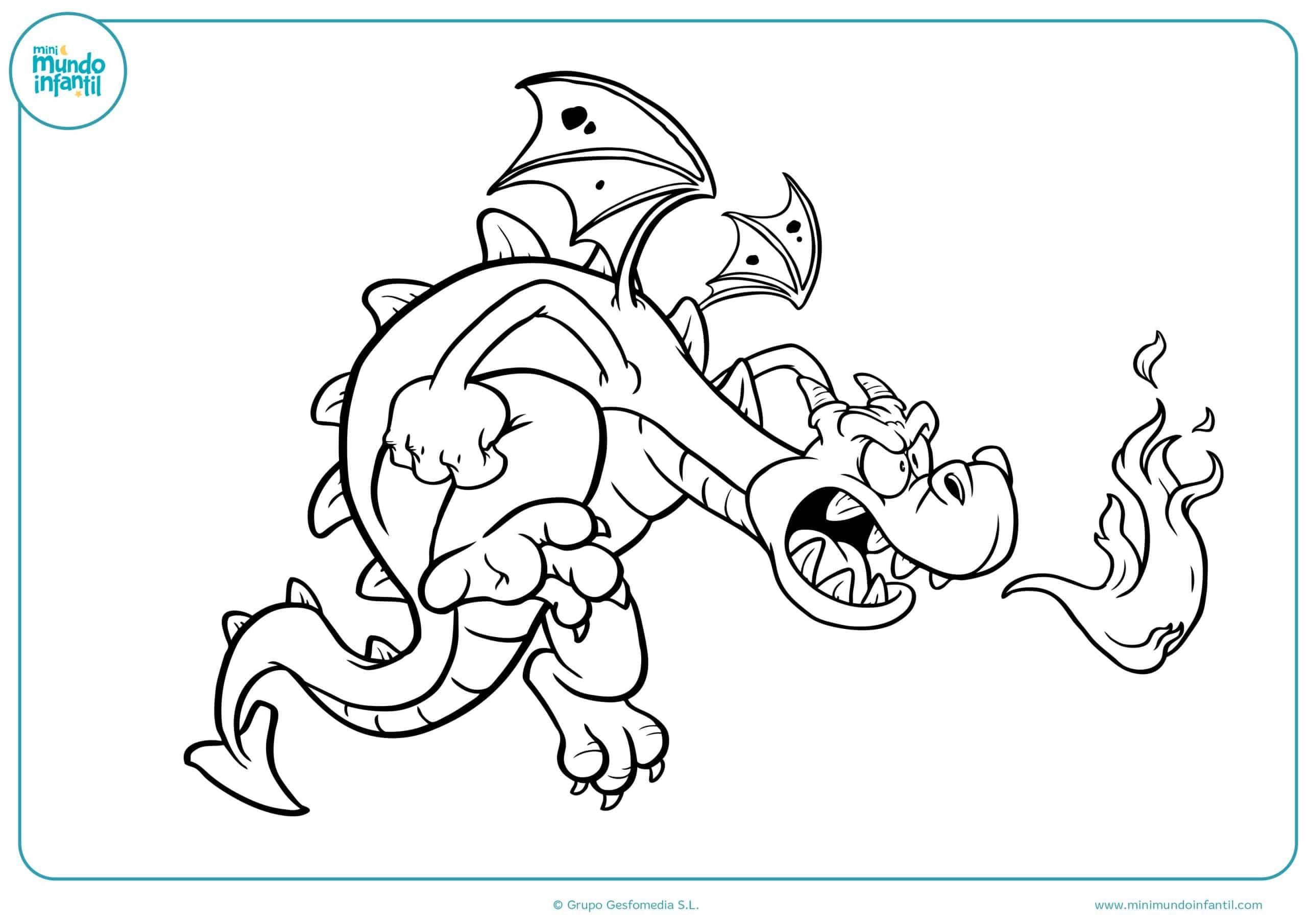 Excelente Dragones Para Colorear Colección de Imágenes - Dibujos ...
