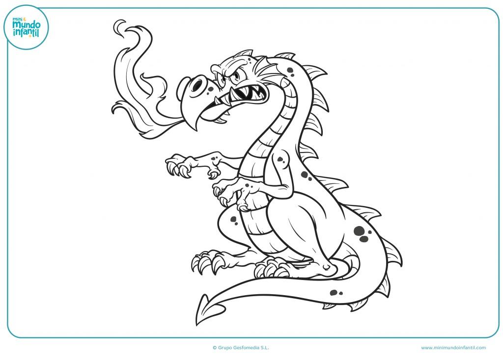 Descarga el dibujo del dragón con garras