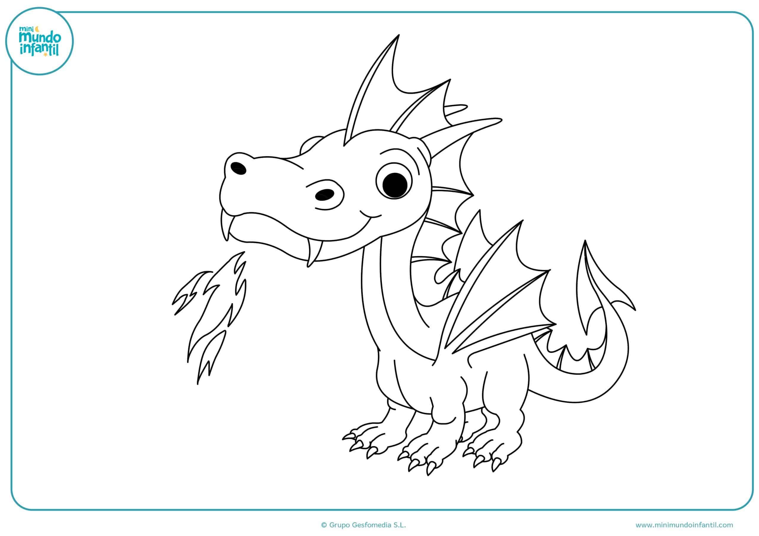 Colorear dibujos dragones