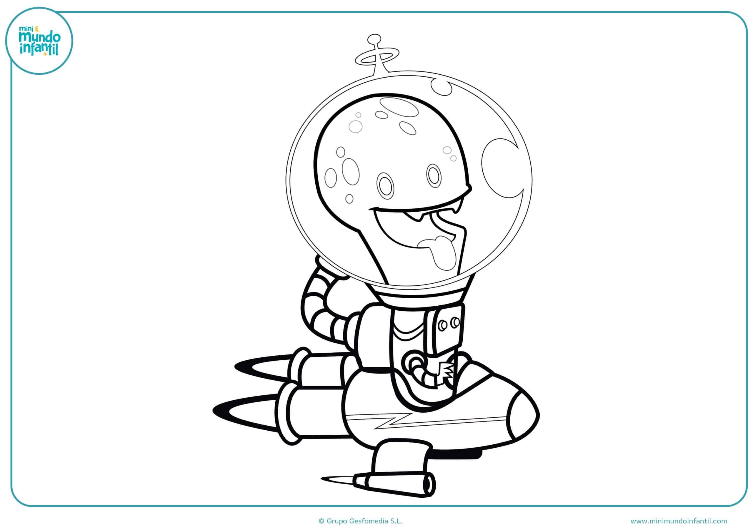 Dibujos para colorear marcianos