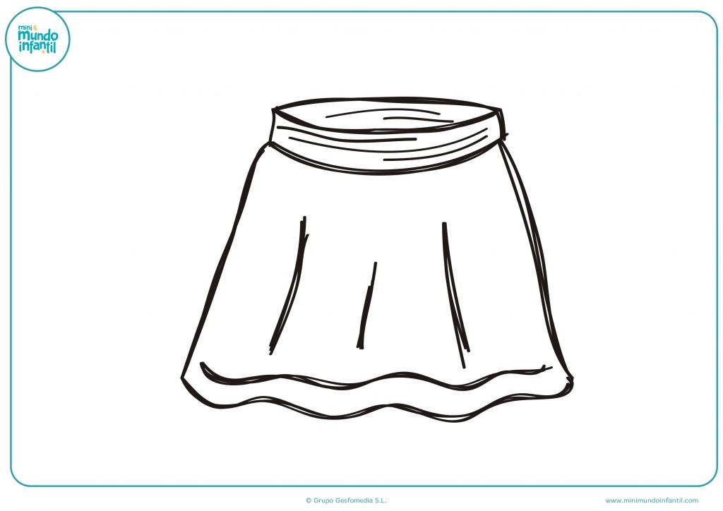 Decora el dibujo de esta falda con los colores que te gusten