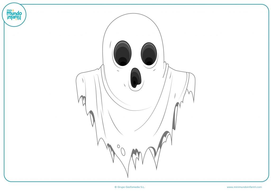Colorea este dibujo de un fantasma con los colores que más te gusten