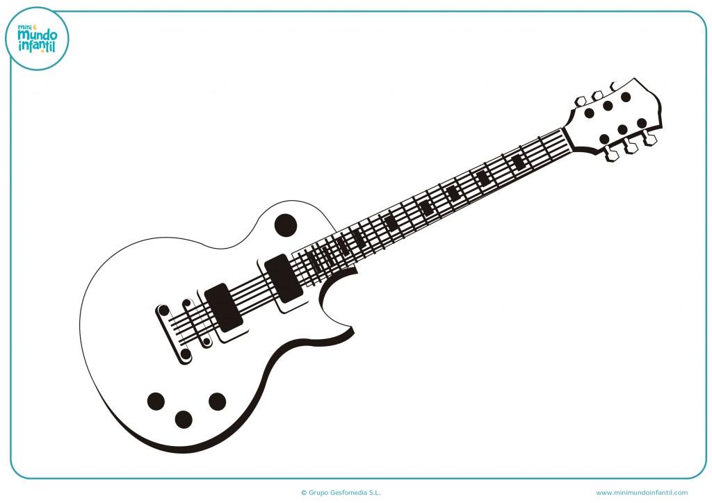 Pinta con ceras esta guitarra eléctrica