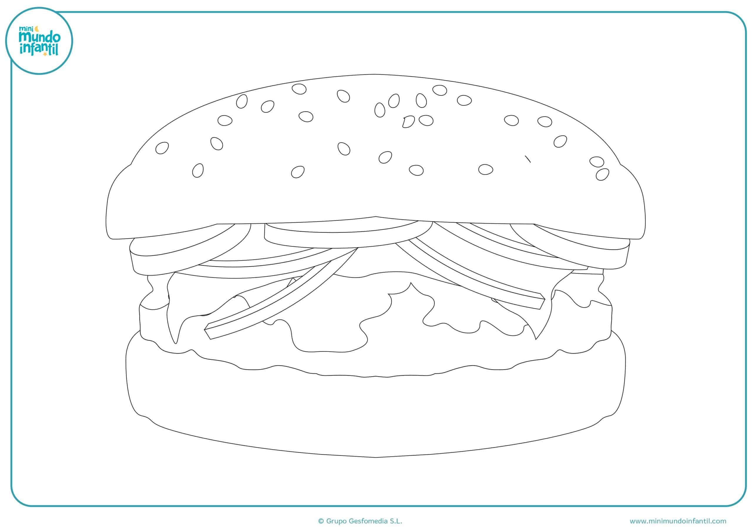Dibujos colorear carne