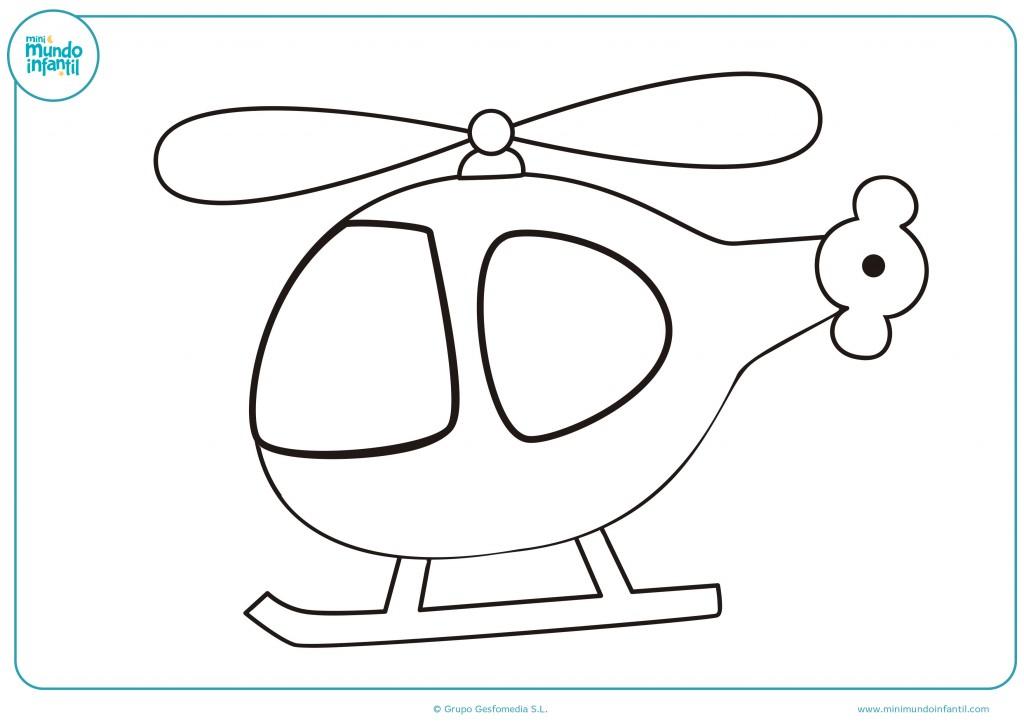 Pinta como más te guste este helicóptero de juguete
